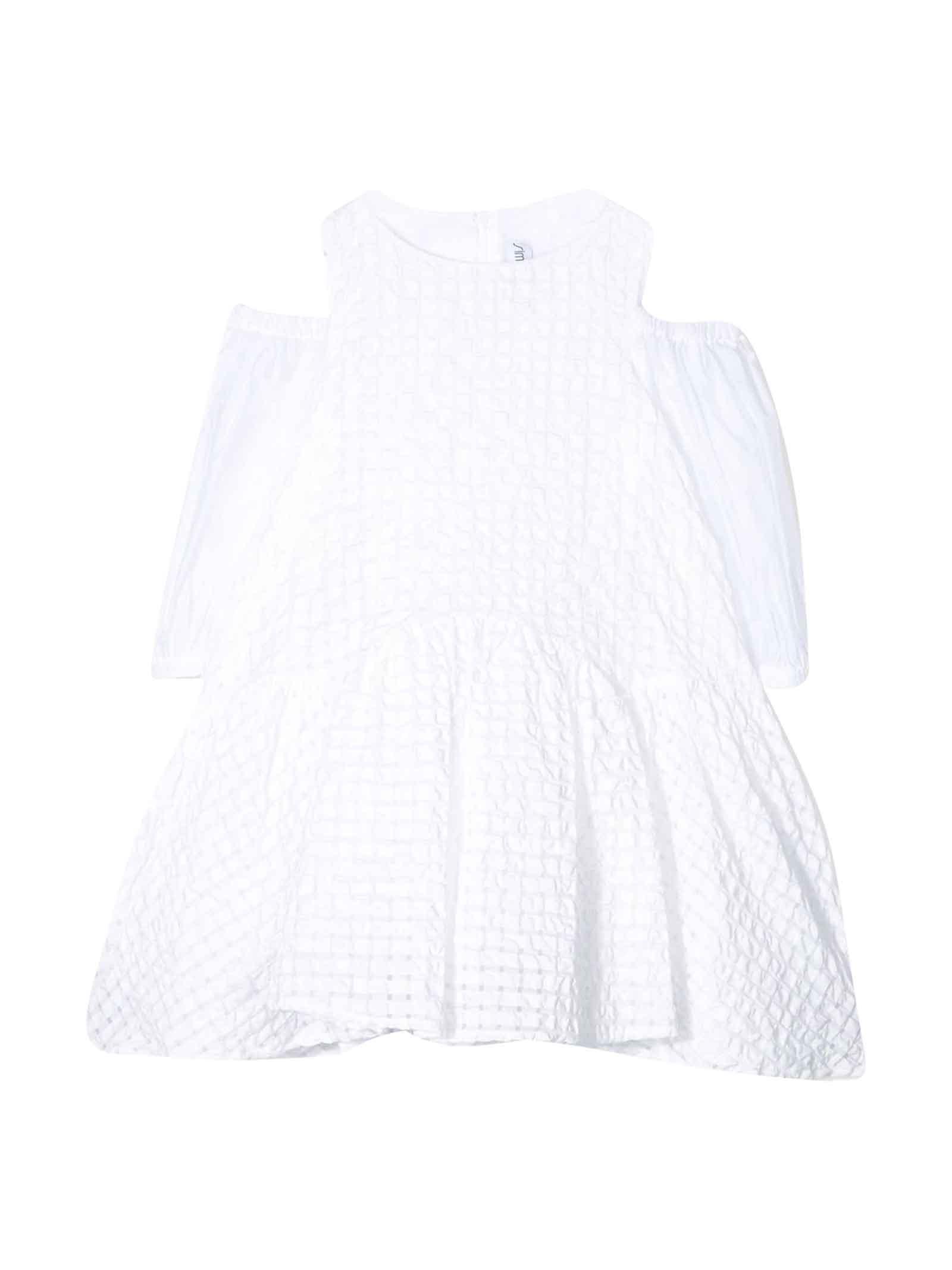Buy Simonetta White Flared Dress online, shop Simonetta with free shipping