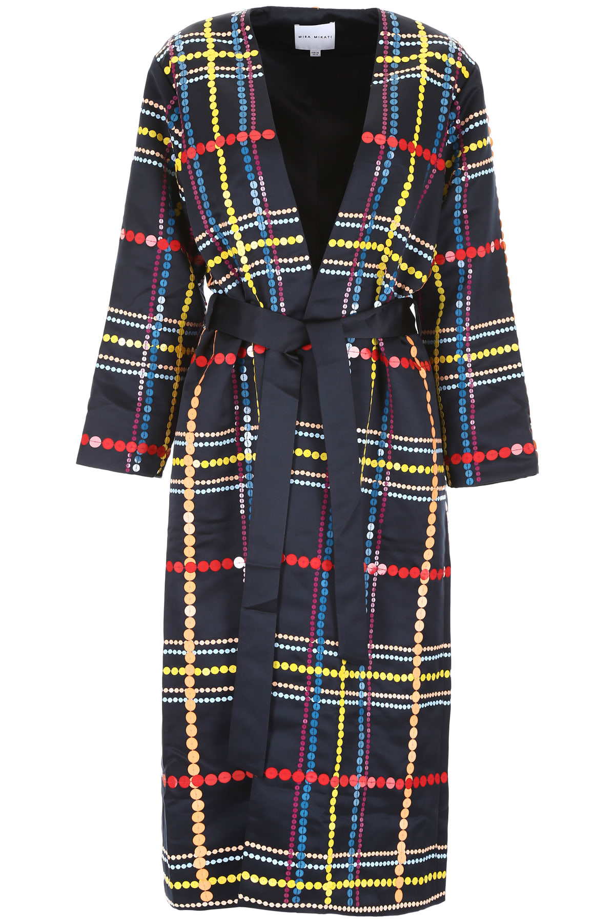 Photo of  Mira Mikati Wrap Coat With Sequins- shop Mira Mikati jackets online sales