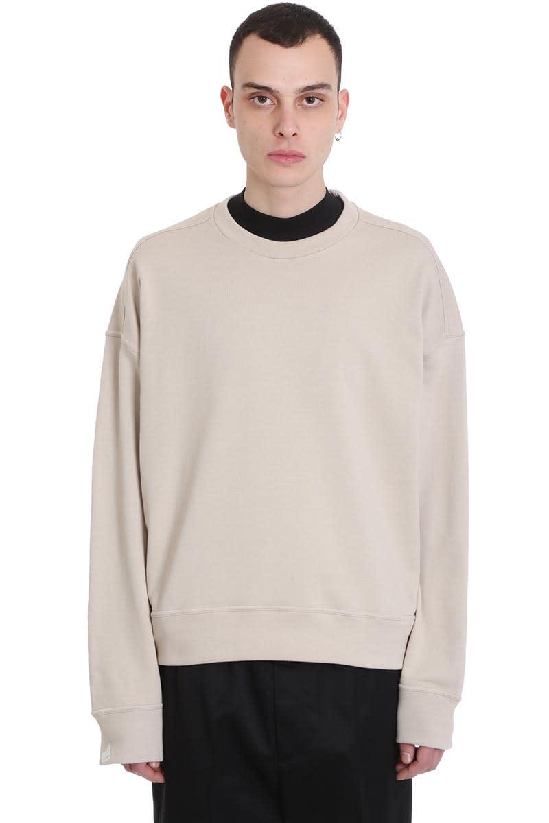 Jil Sander Sweatshirt In Beige Cotton