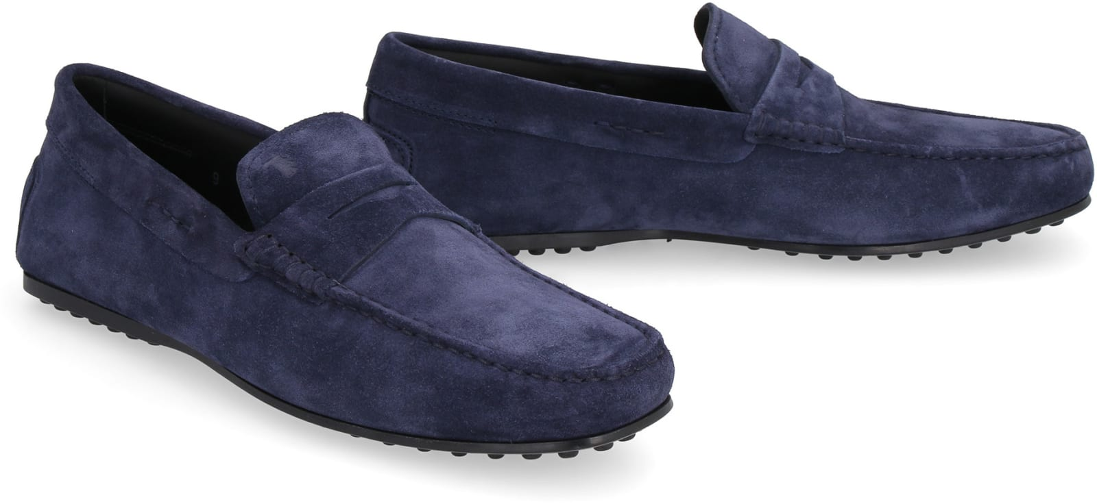 60484f93a Tod's Tod's City Gommino Suede Loafers - blue - 11008126 | italist