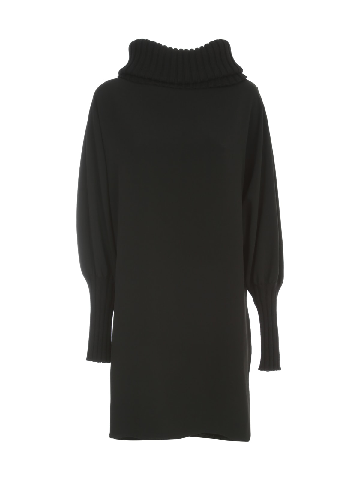 Gianluca Capannolo Lola Dress L/s Crew Ribbed Neck