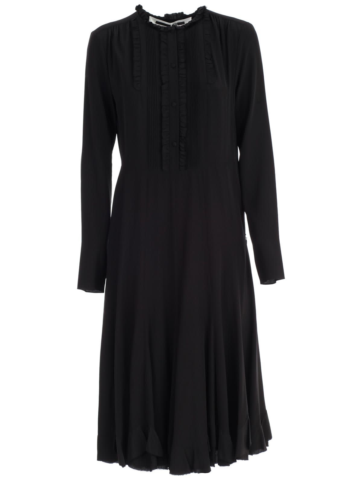 McQ Alexander McQueen Dress L & s Midi W & panel
