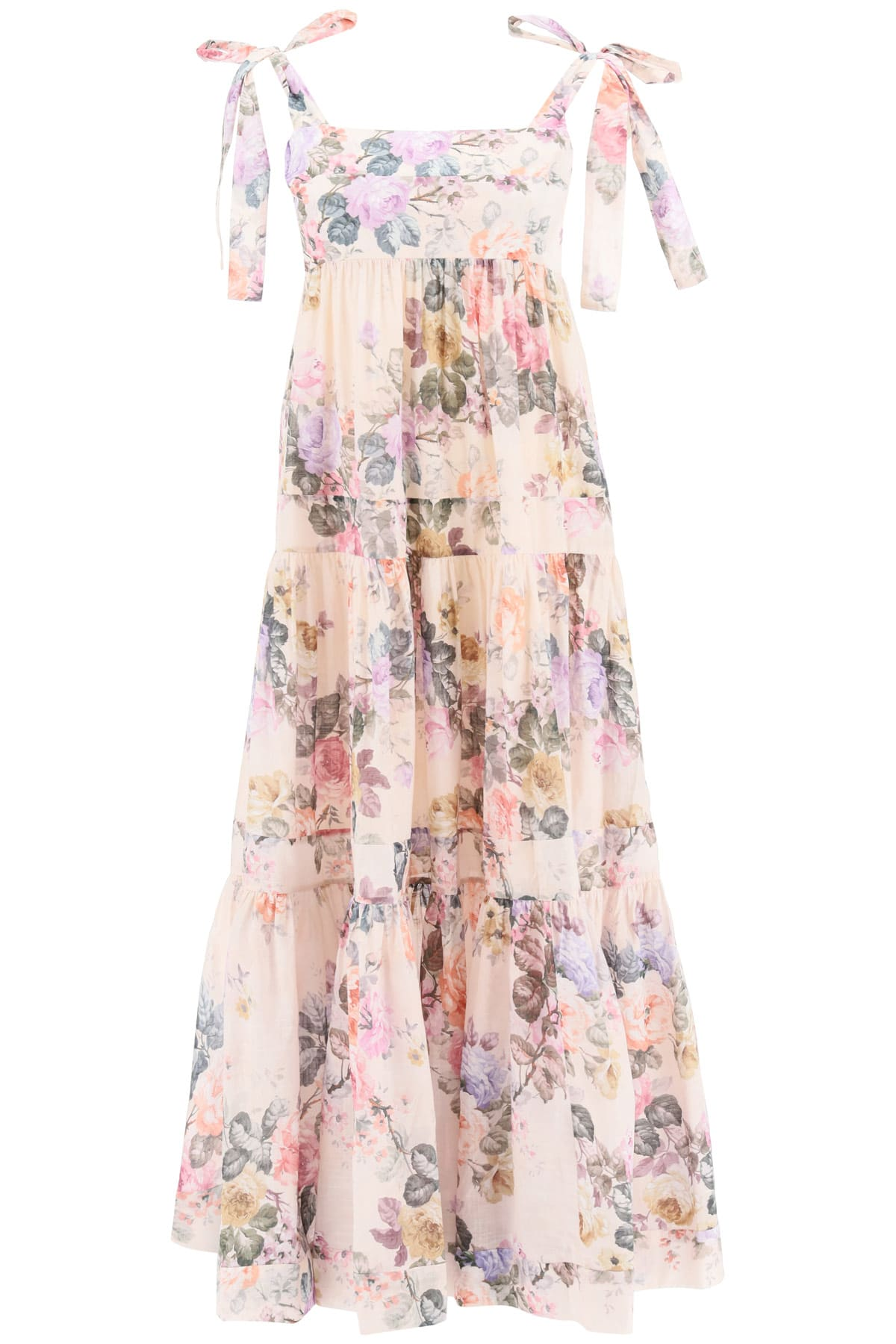Buy Brigthon Dress In Floral Cotton online, shop Zimmermann with free shipping