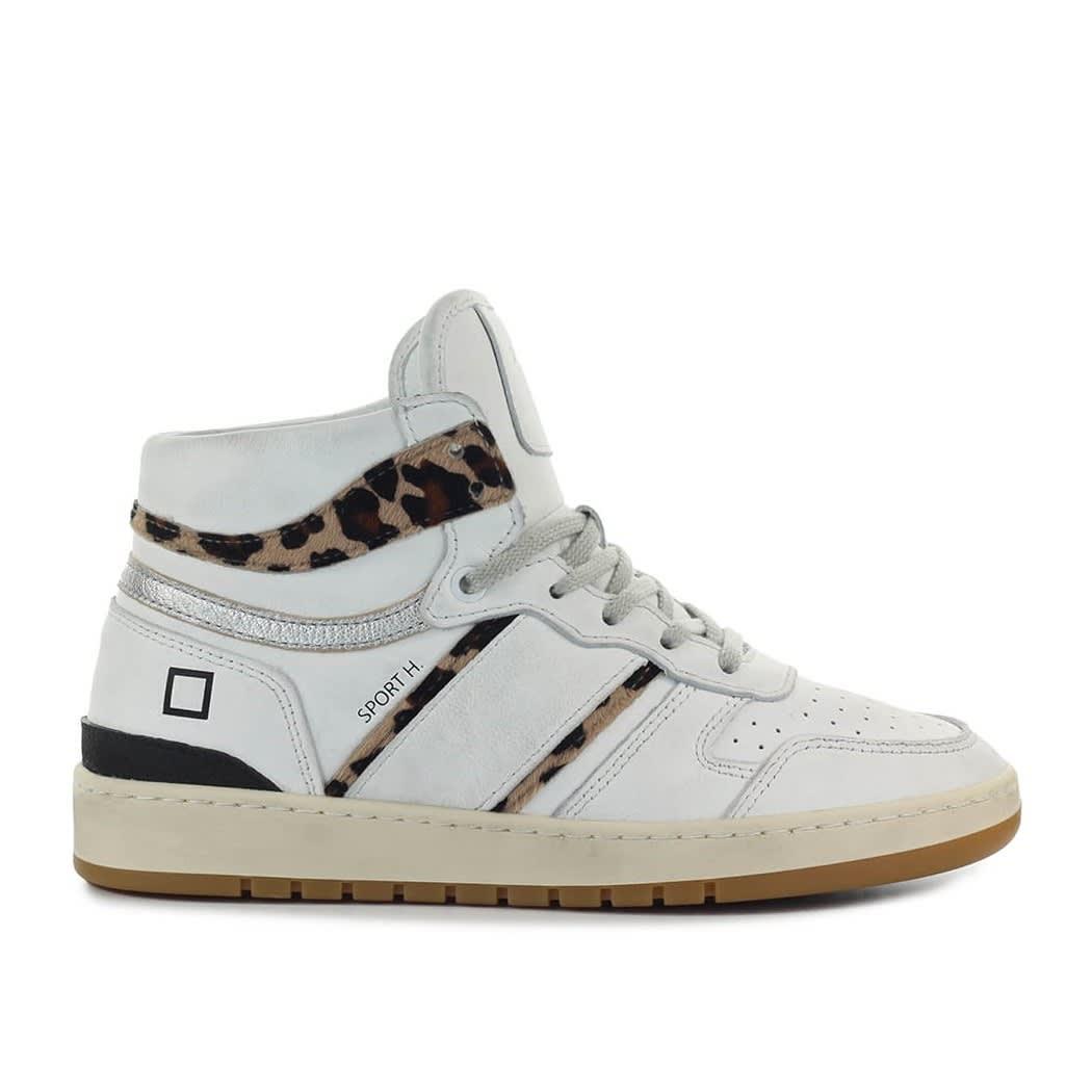 Sport High Vintage Calf White Leopard Sneaker