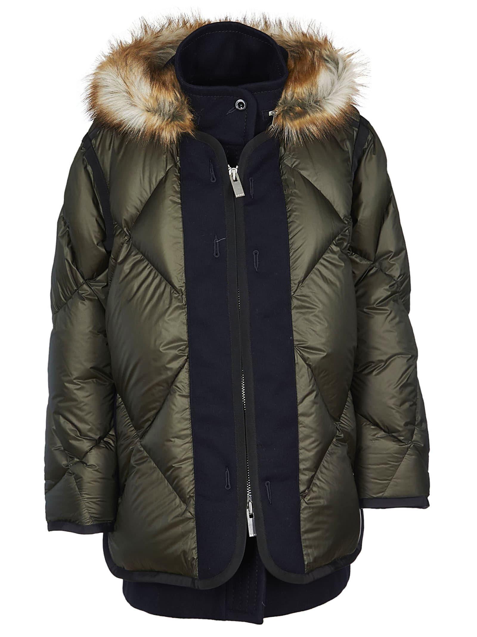Sacai Fur Hood Down Jacket