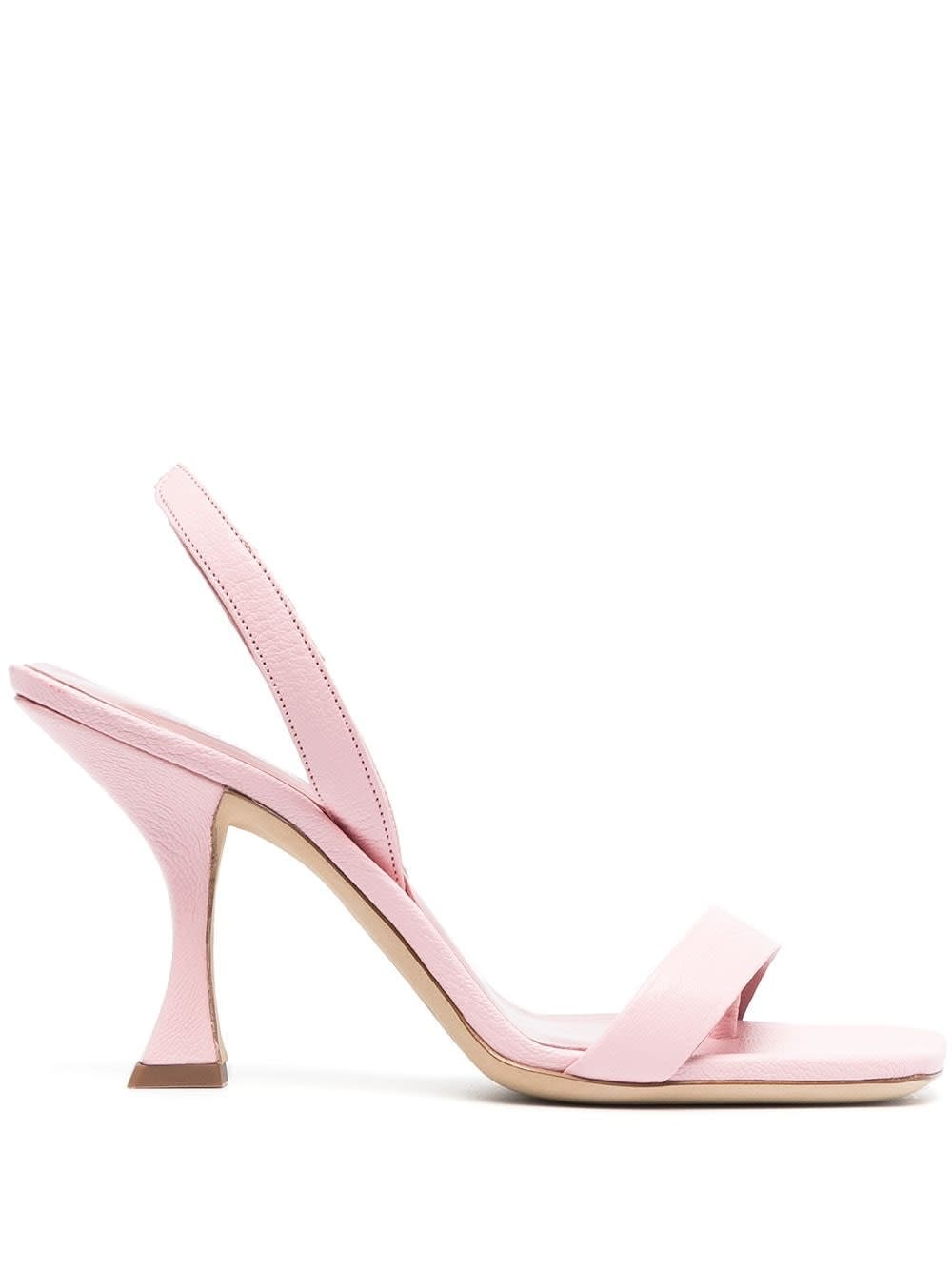 By Far LOTTA PEONY SANDALS IN PINK LEATHER