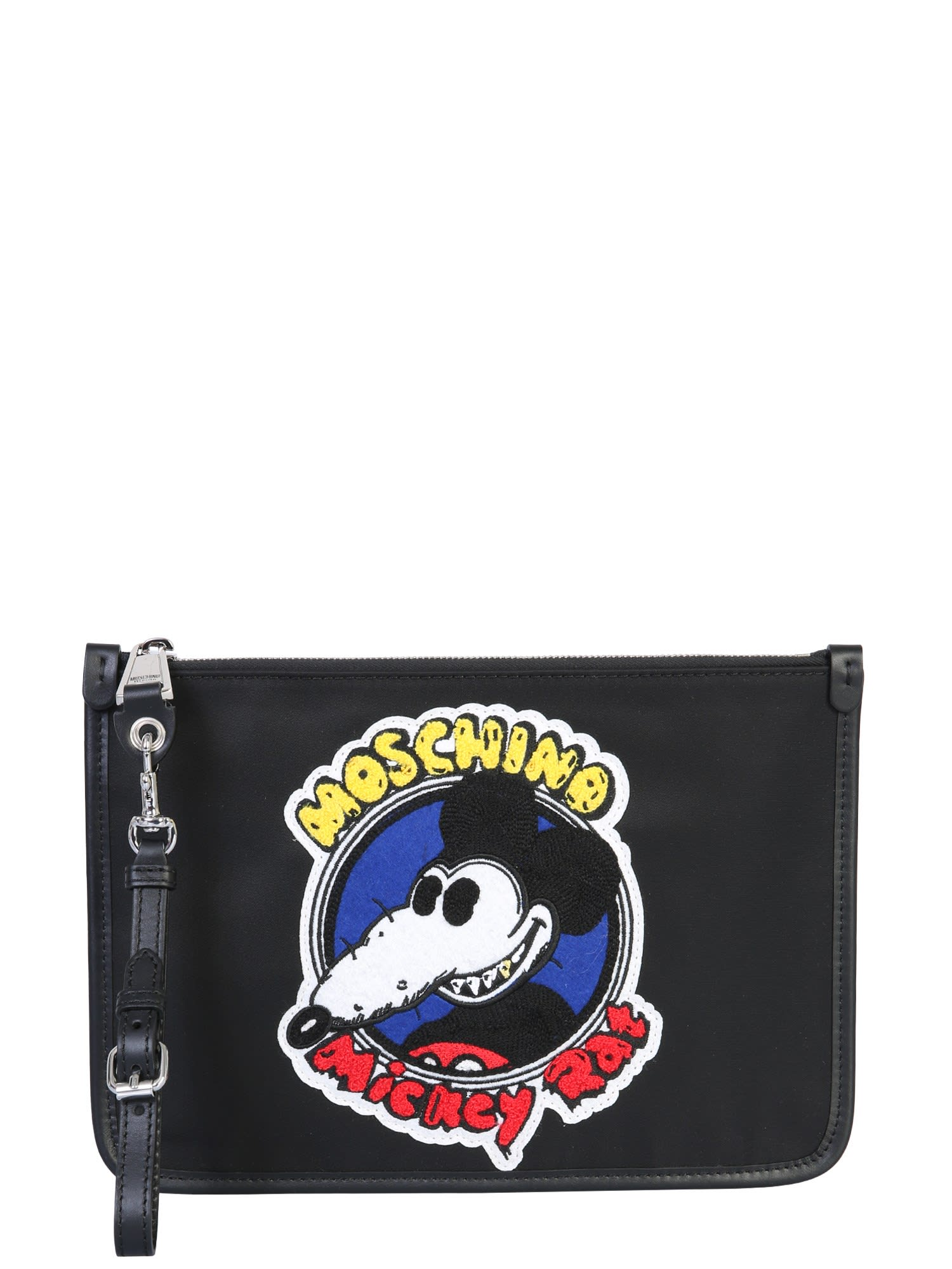Moschino Chinese New Year Pouch In Nero