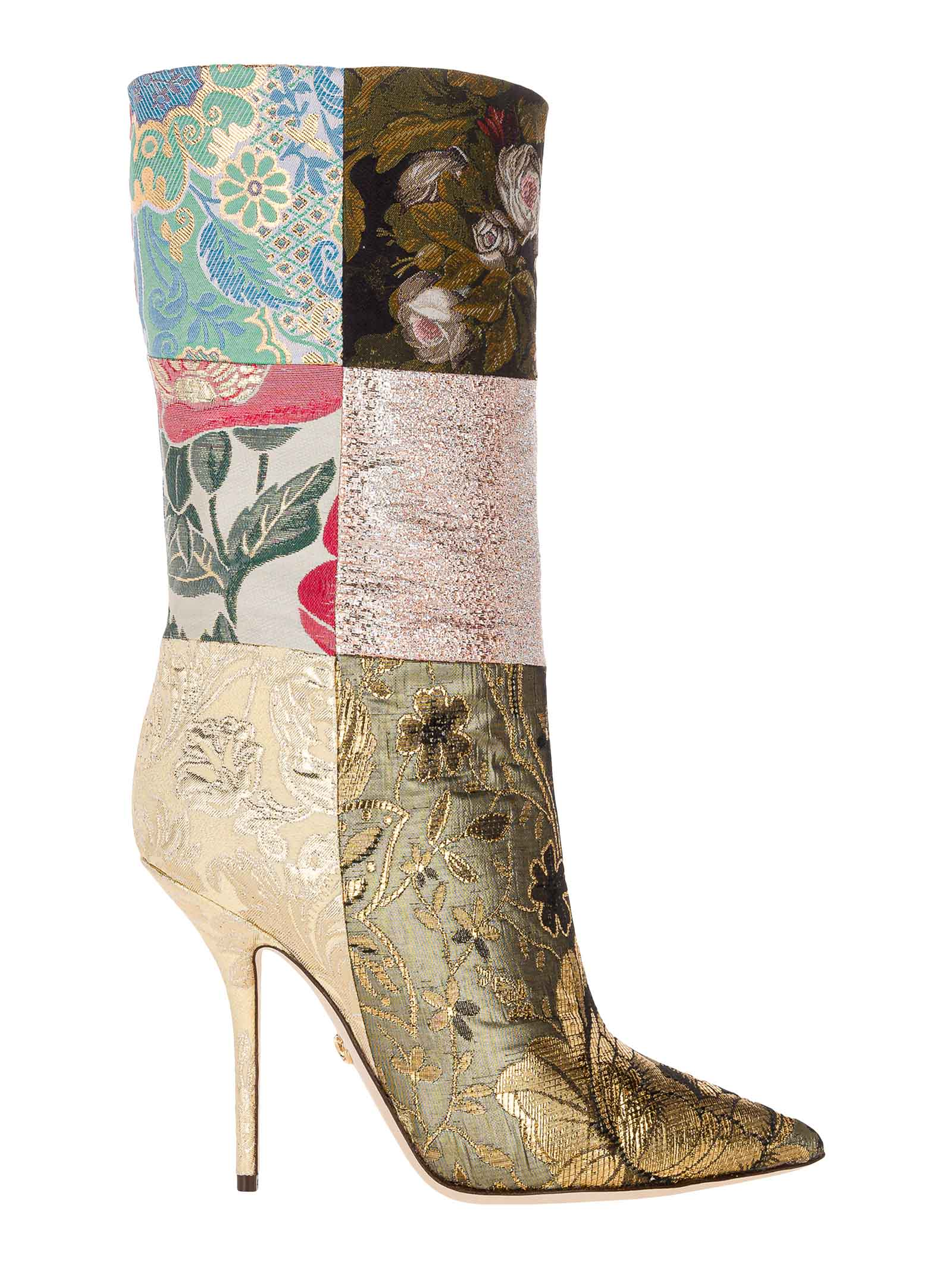 Buy Dolce & Gabbana Dolce & gabbana Patchwork Fabric Ankle Boots online, shop Dolce & Gabbana shoes with free shipping