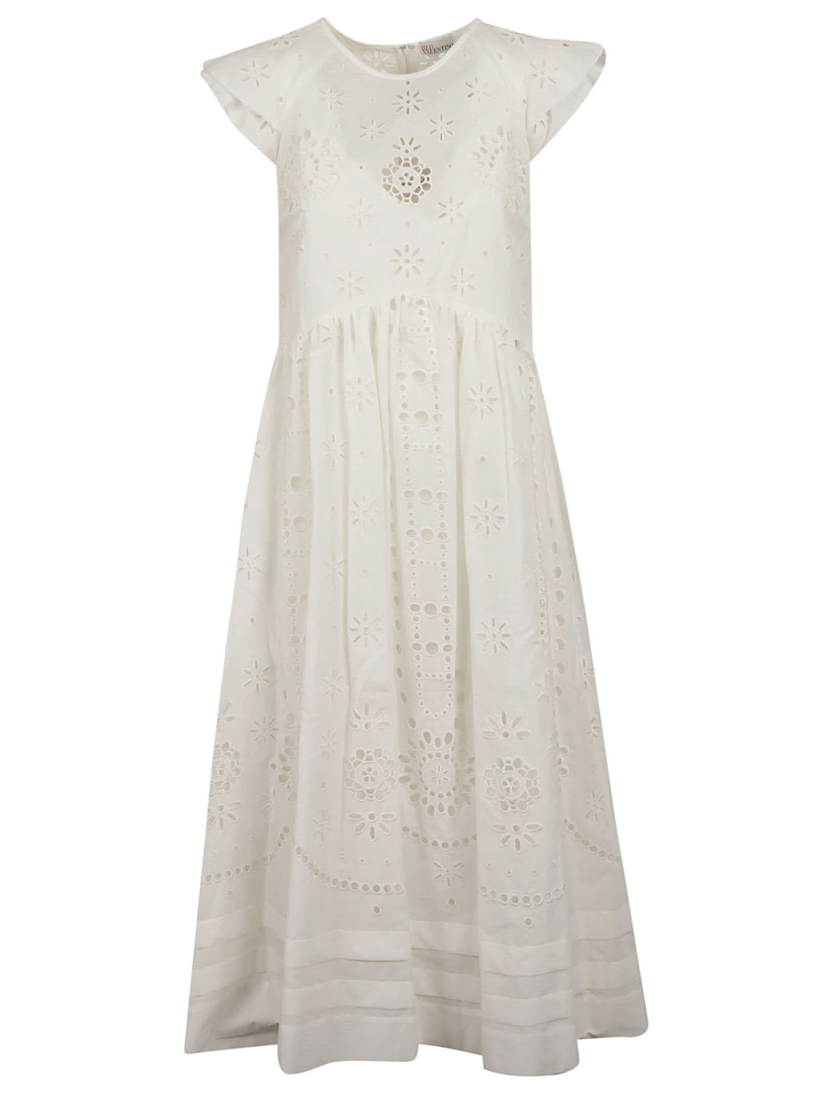 RED Valentino Sangalo Midi Embroidered Dress
