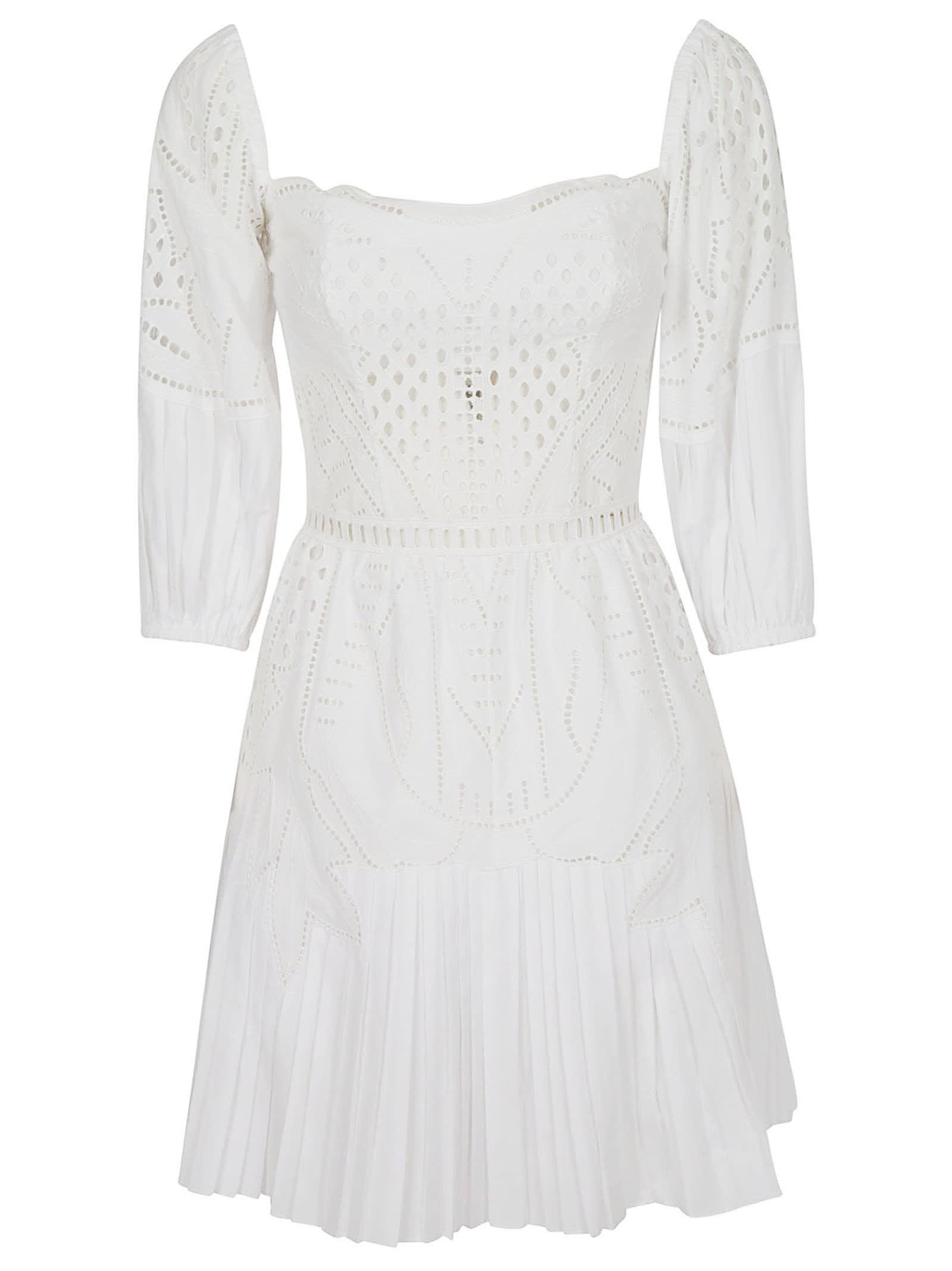 Alberta Ferretti Back Zip Short Dress