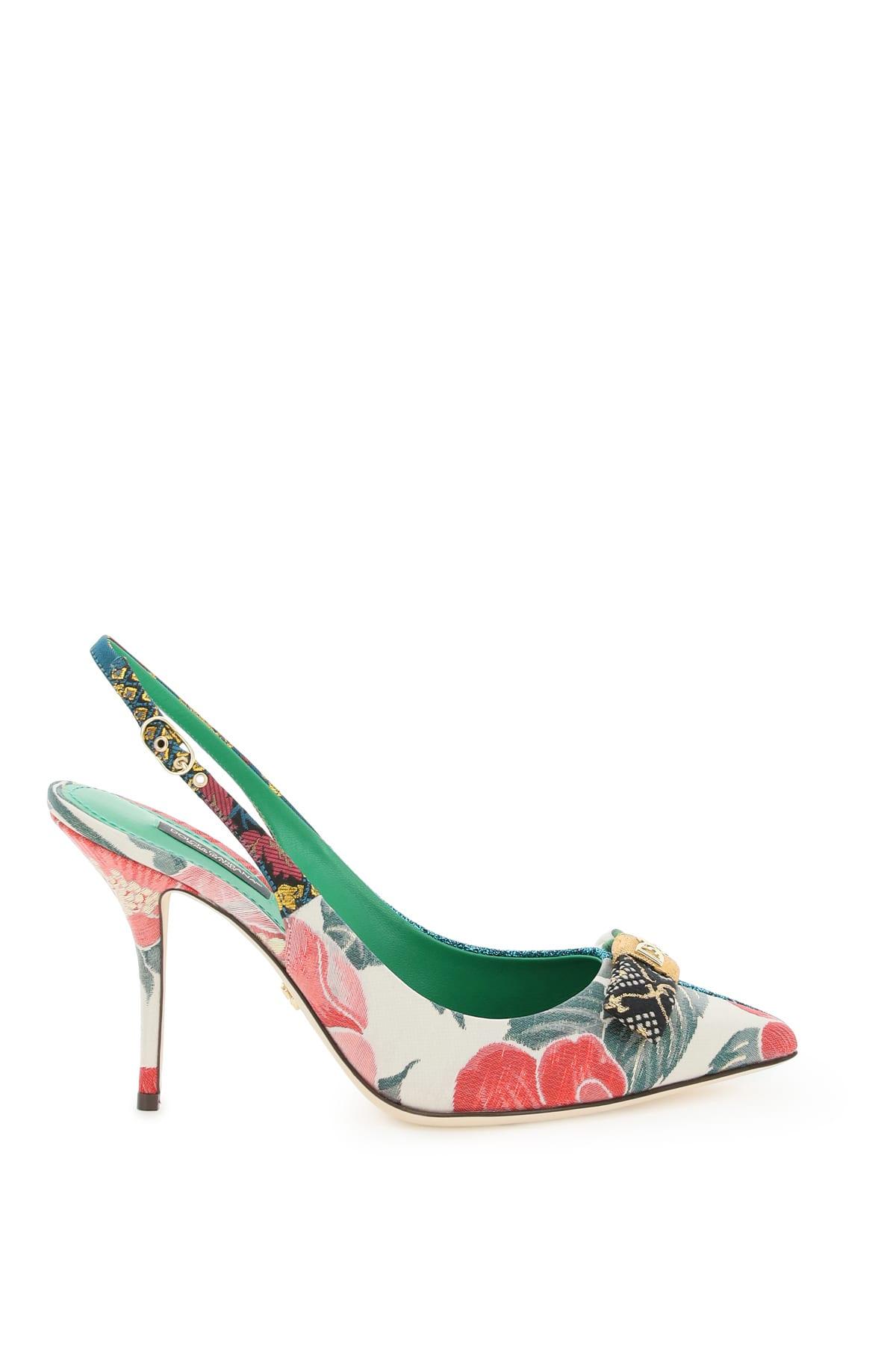 Dolce & Gabbana CARDINALE SLINGBACK PUMPS 16 PATCH