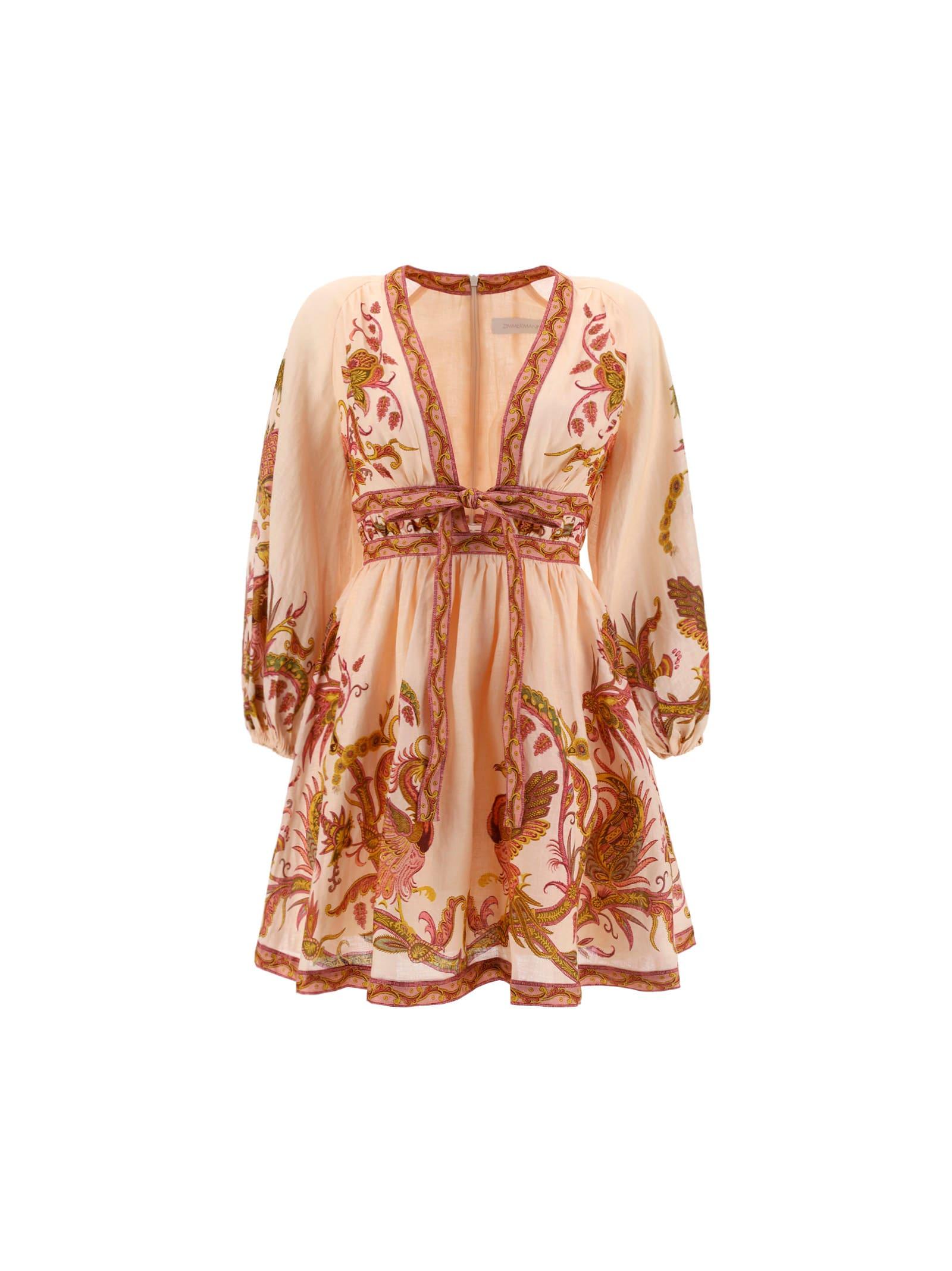 Buy Zimmermann Mini Cassia Dress online, shop Zimmermann with free shipping
