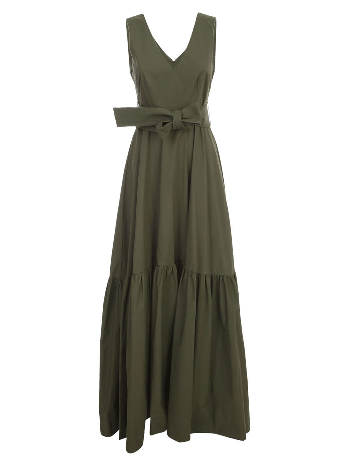 Buy Parosh Cotton Maxi Dress W/s V Neck online, shop Parosh with free shipping