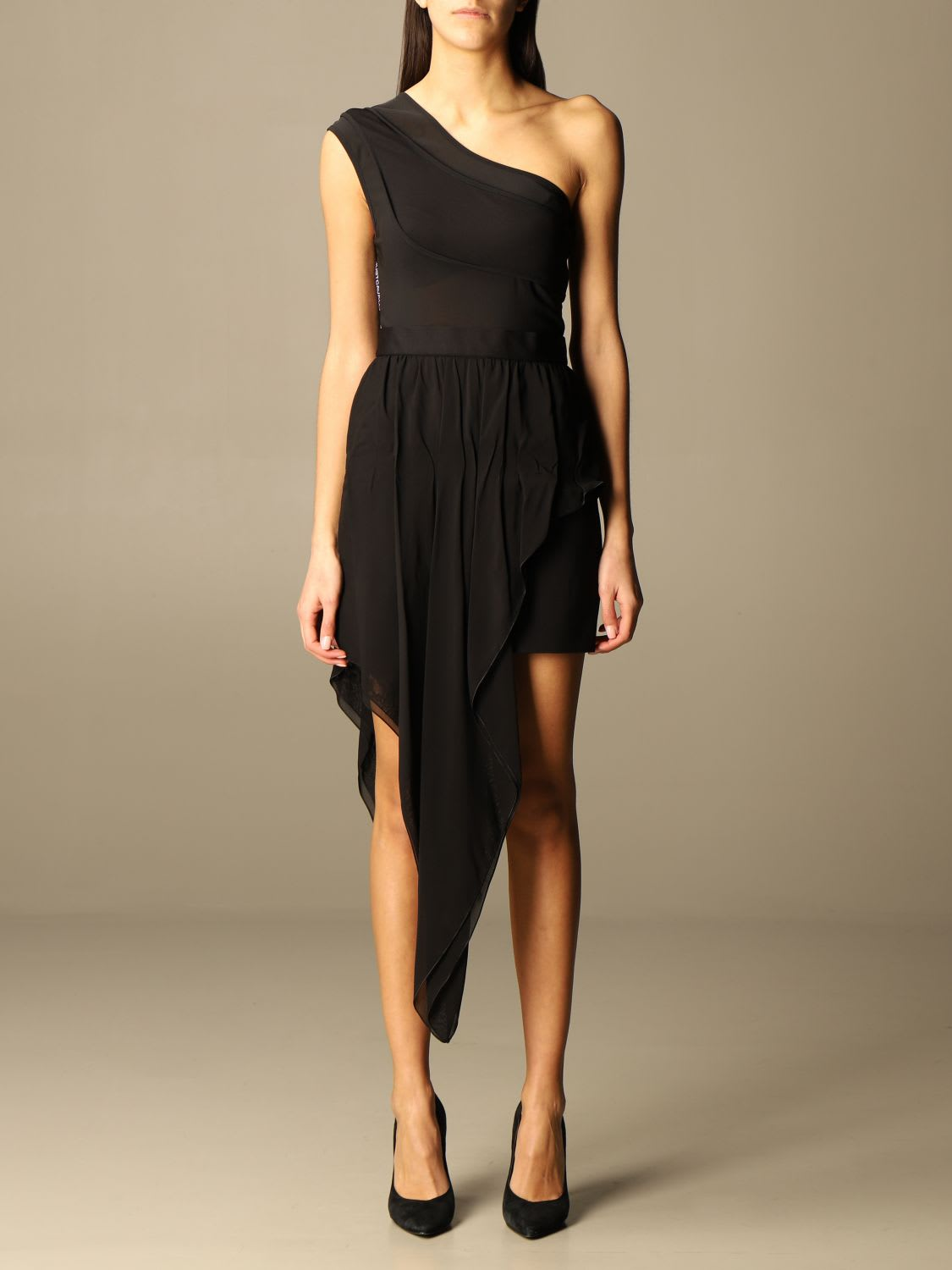 Buy Just Cavalli Dress Just Cavalli Dress With Asymmetrical Panel online, shop Just Cavalli with free shipping
