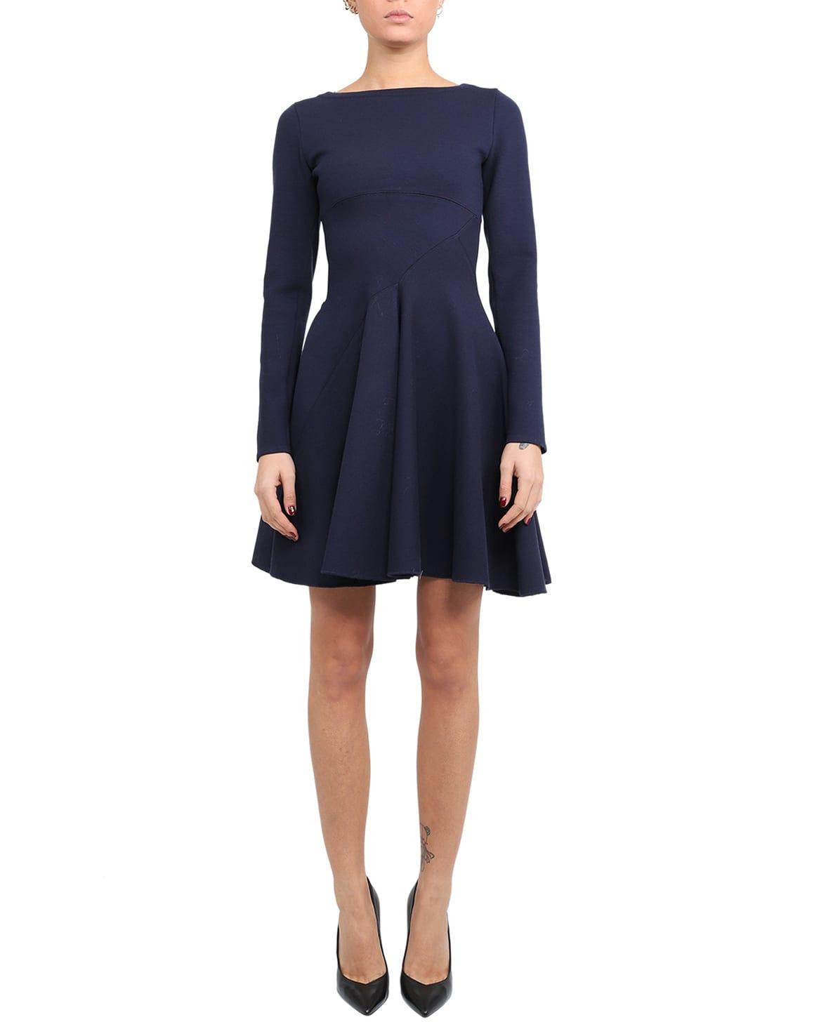 Azzedine Alaia Blue Skater Dress
