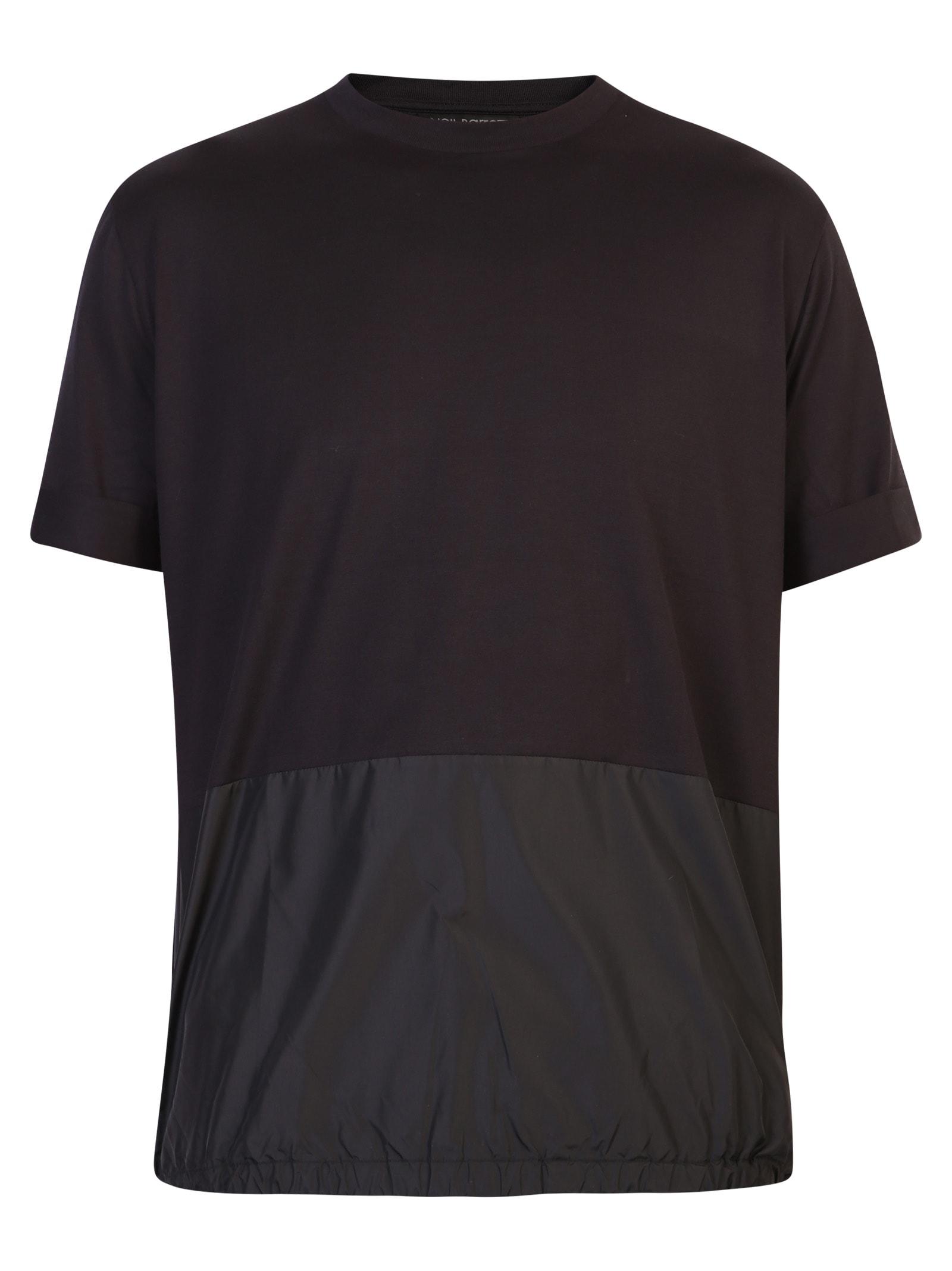 Neil Barrett Nylon And Cotton T-shirt In Black