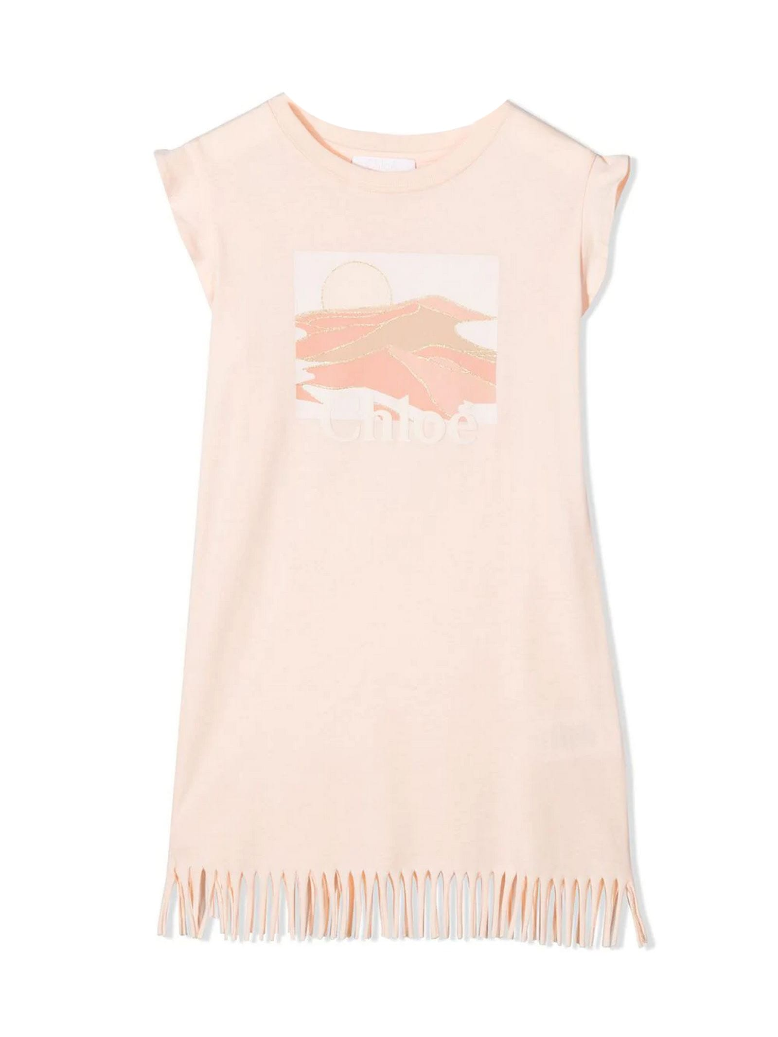 Chloé Pink Cotton Dress