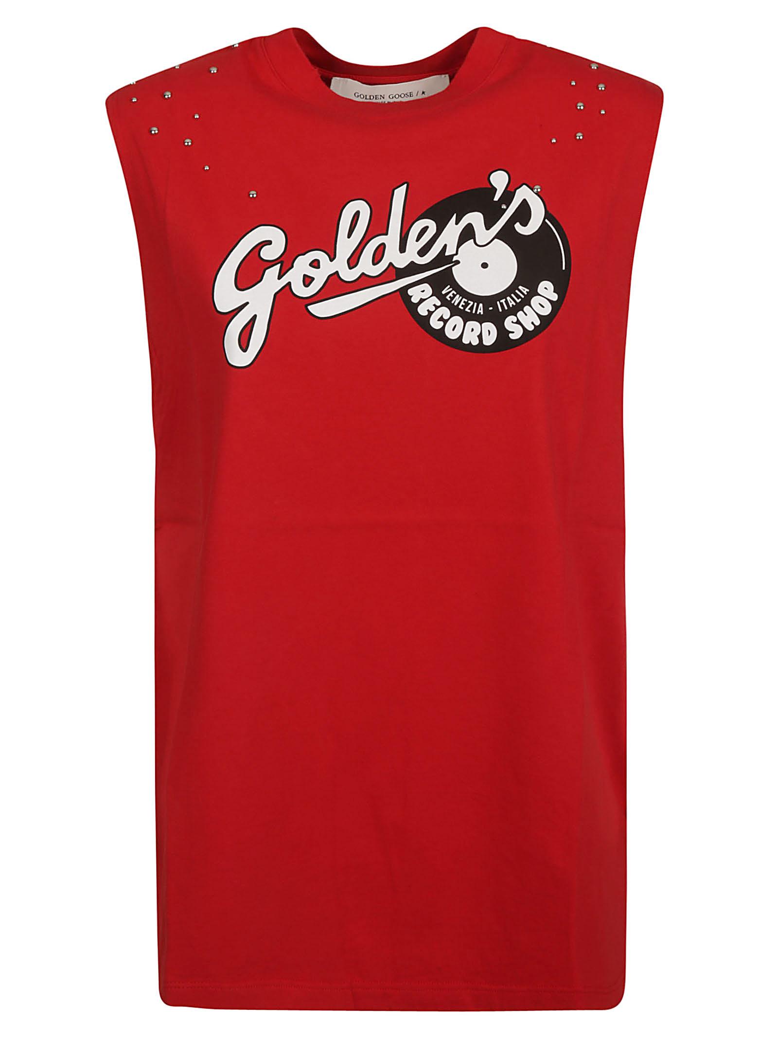 Golden Goose Sleeveless Goldens Record Shop Top