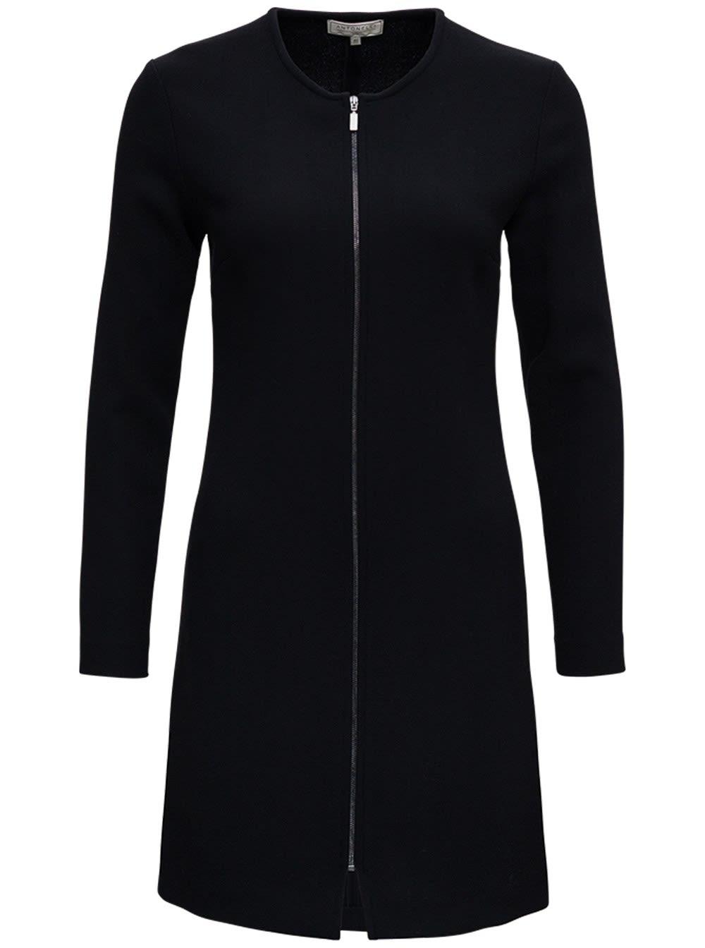 Black Orazio Dress In Wool Blend