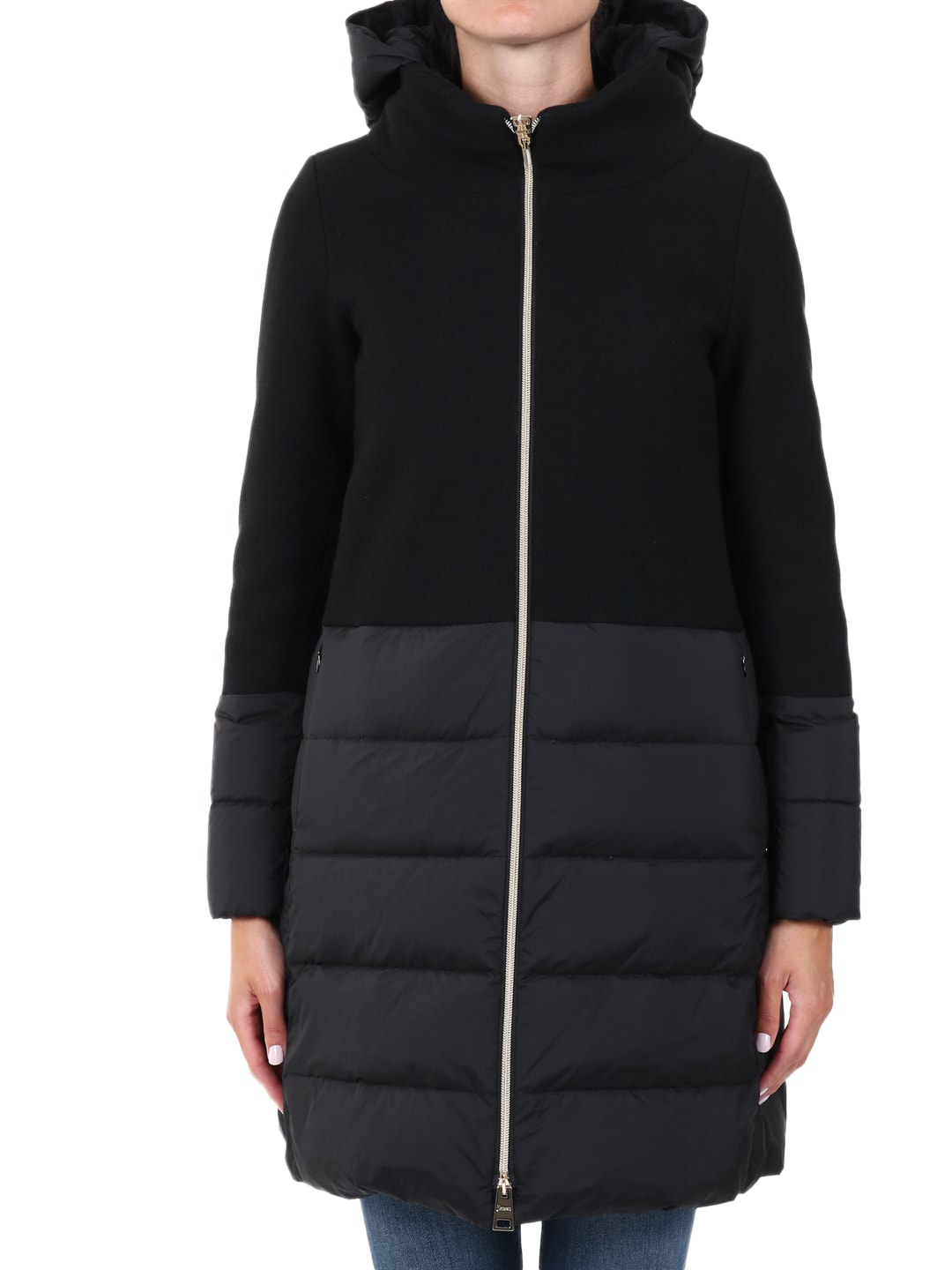 Herno WOOL AND NYLON PARKA BLACK
