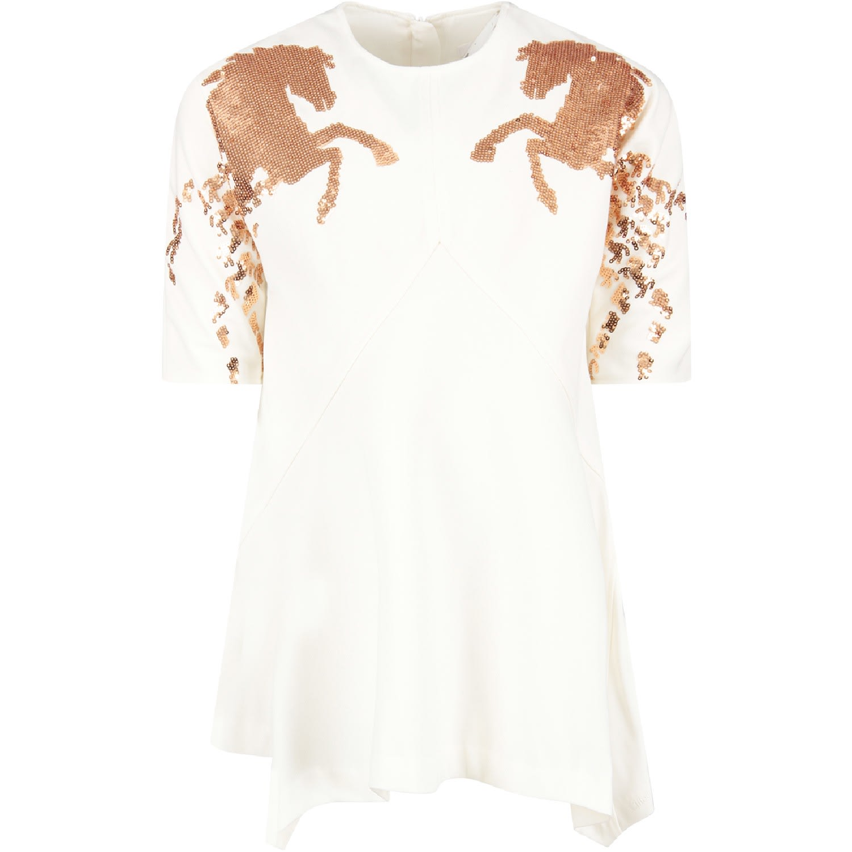 Chloé Ivory Girl Dress With Horses