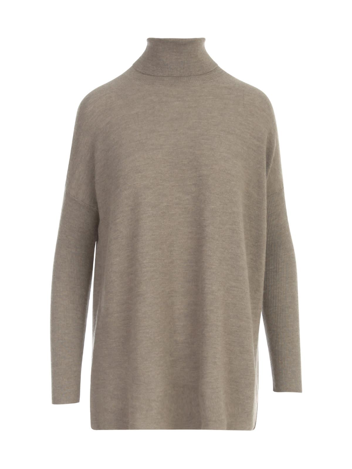 Straight Turtle Neck L/s Sweater