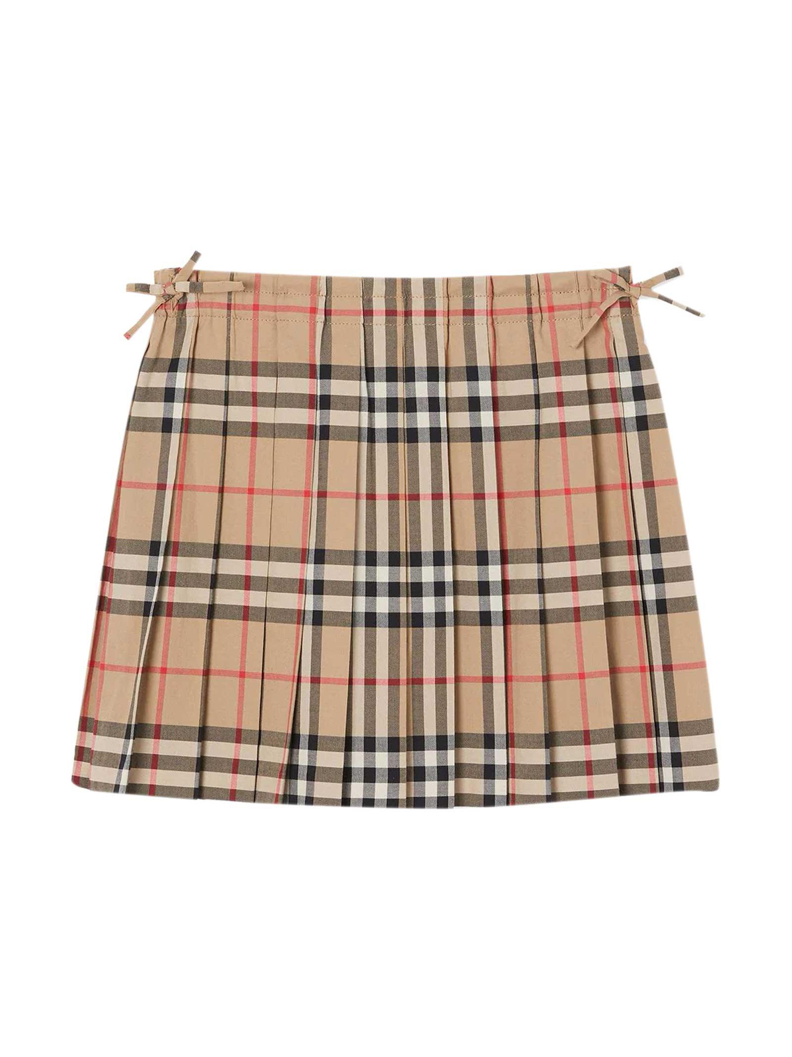 Burberry Kids' Beige Skirt