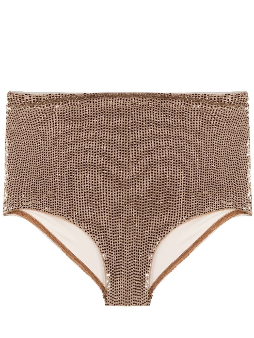 Forte Forte GOLD-COLORED HIGH-WAISTED SLIP