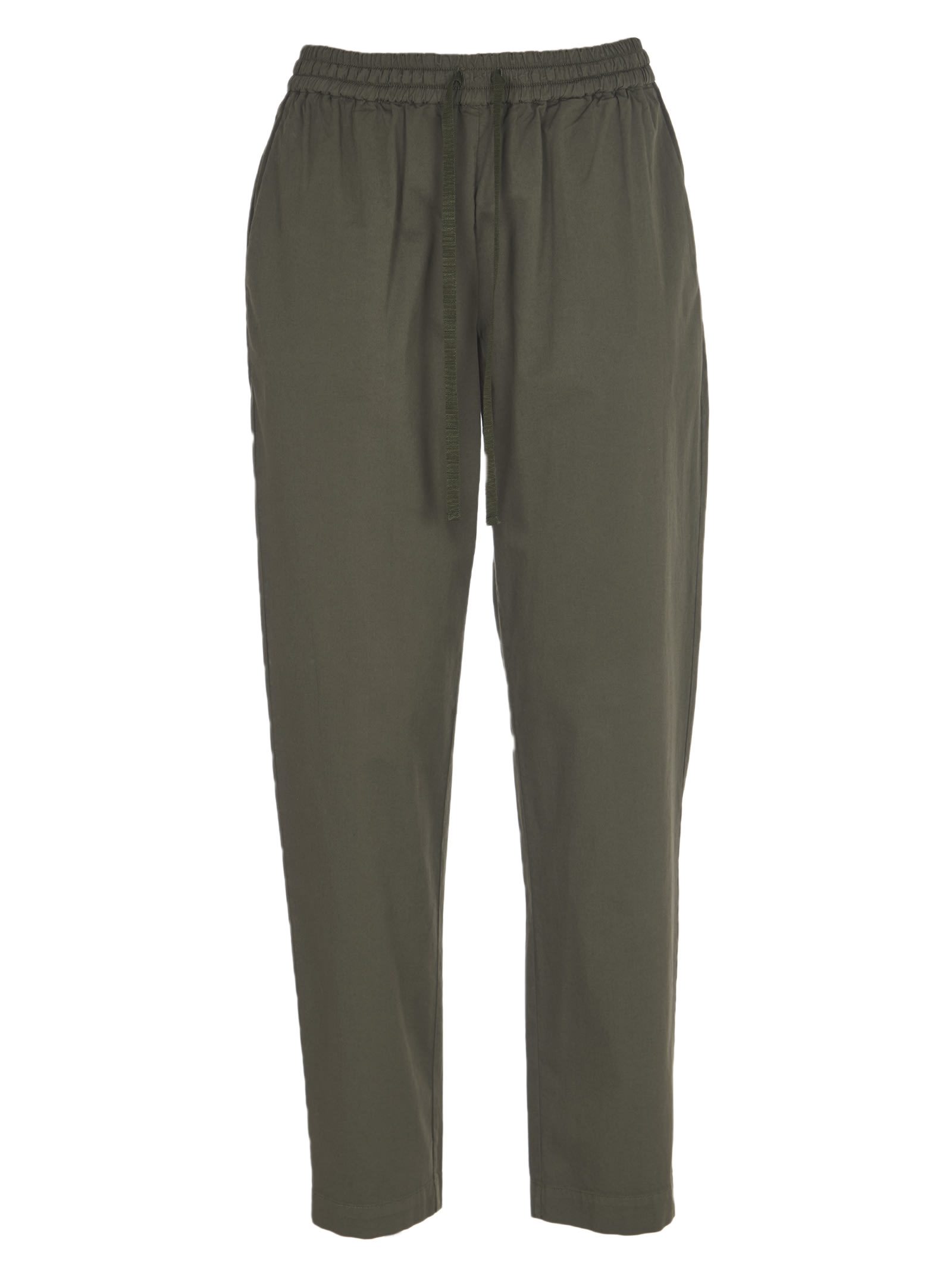 Semicouture GREEN COTTON TROUSERS