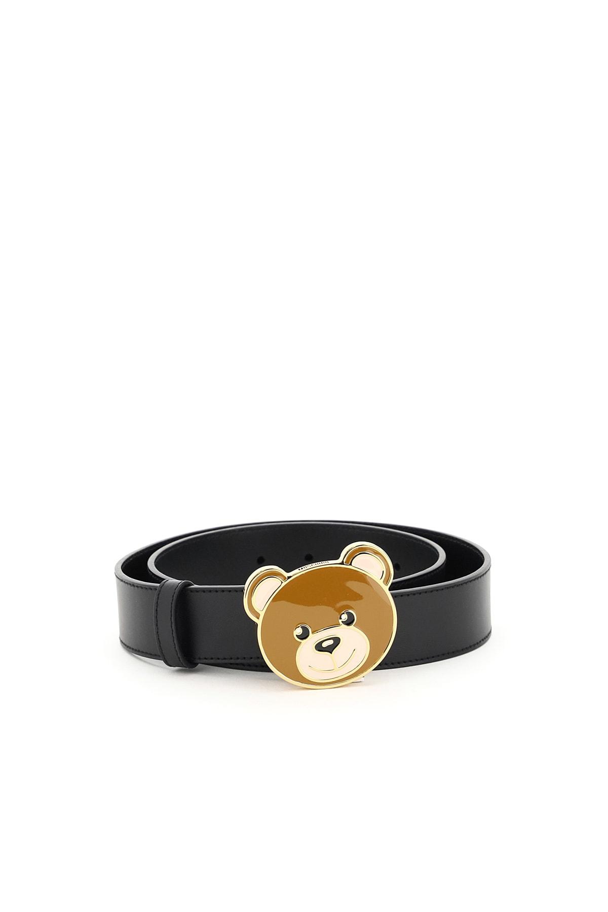 Moschino TEDDY BEAR BUCKLE BELT
