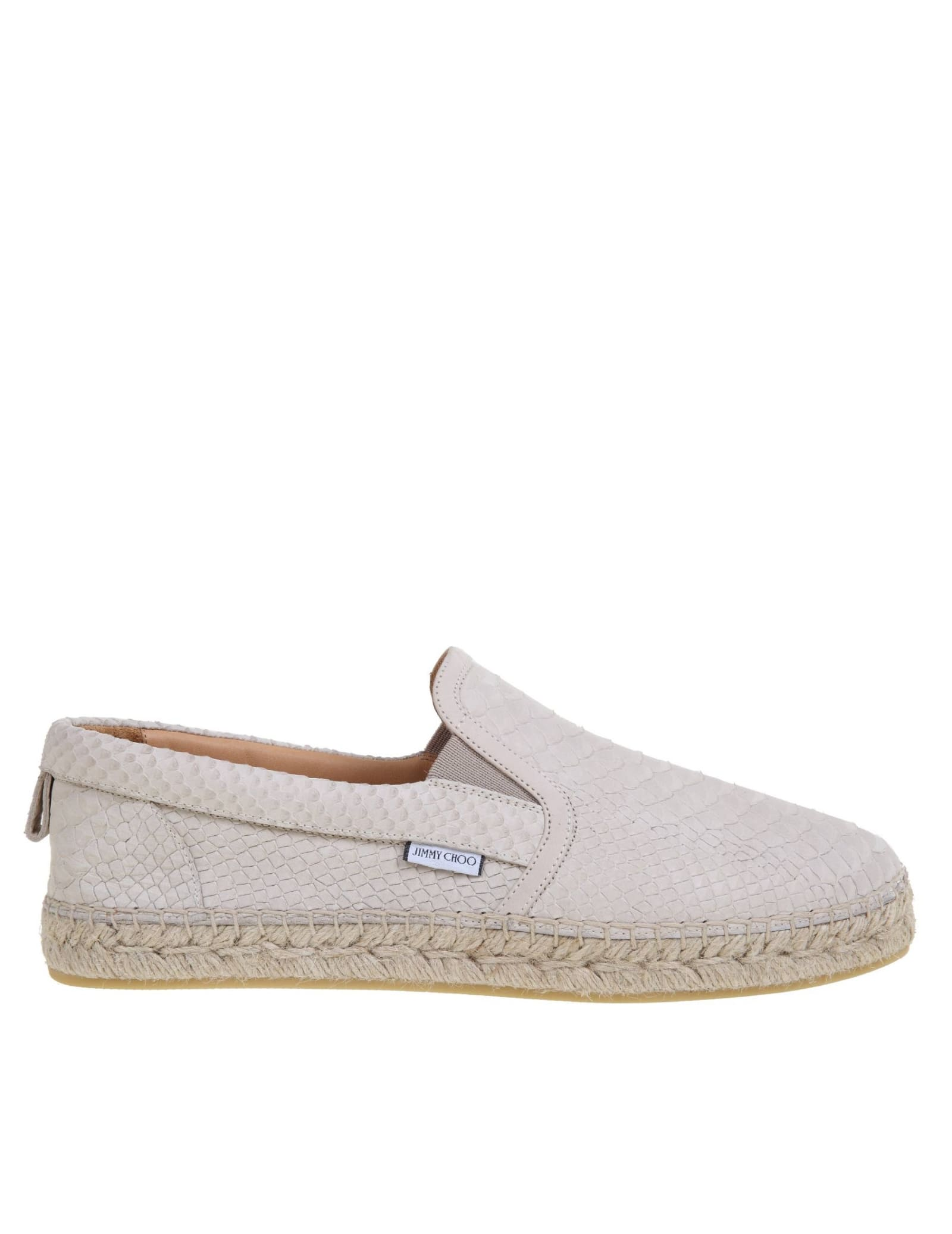 Jimmy Choo ESPADRILLAS IN PELLE COLORE BEIGE