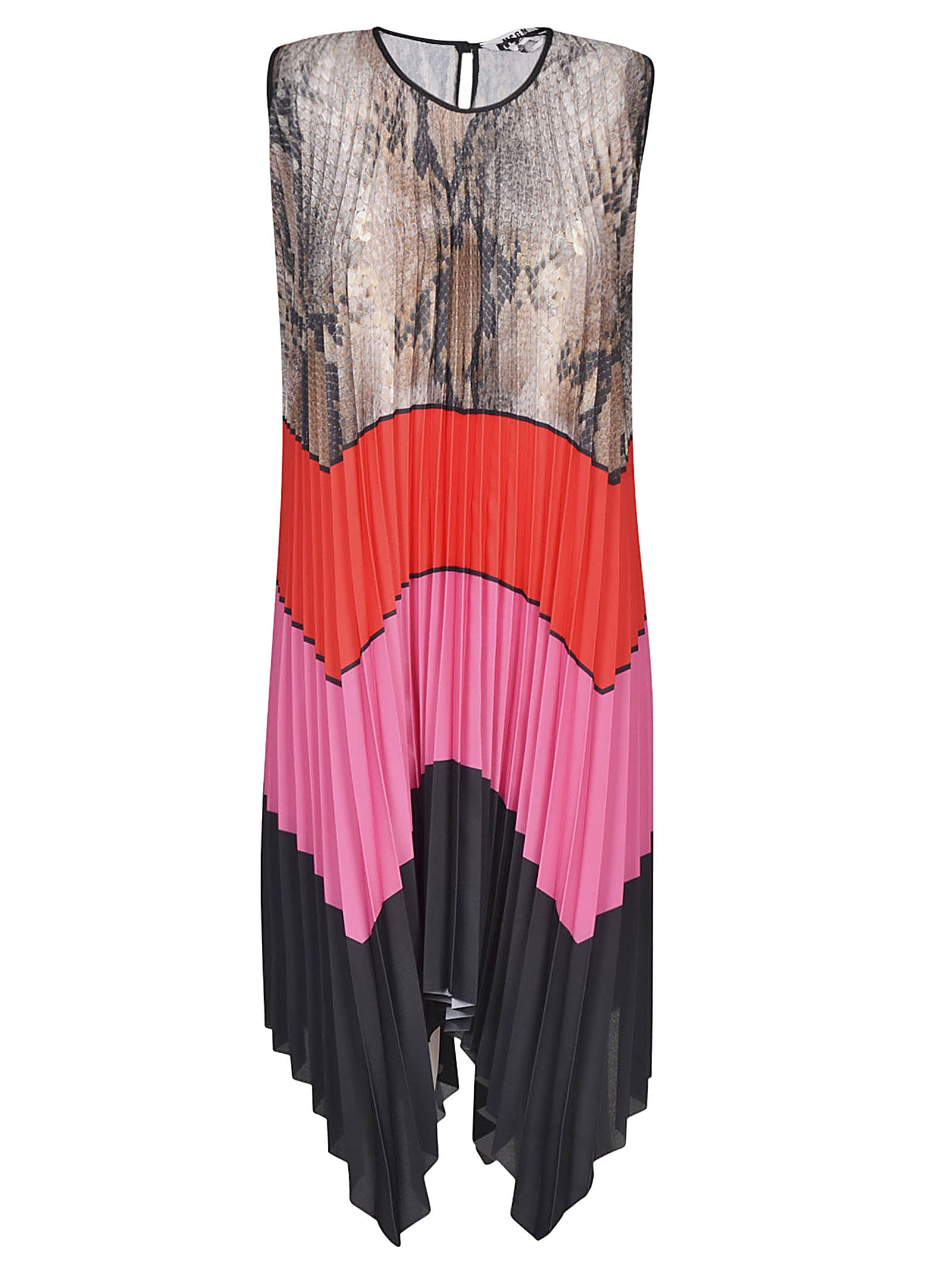 Buy MSGM Sleeveless Pleated Dress online, shop MSGM with free shipping