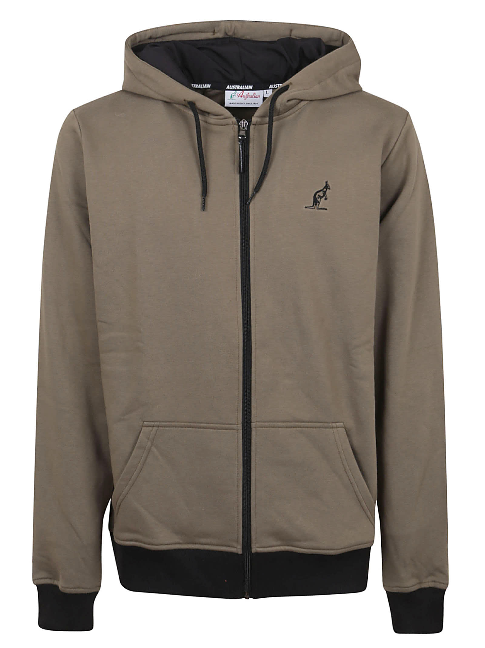 Winter Sweat Jacket With Printed Band