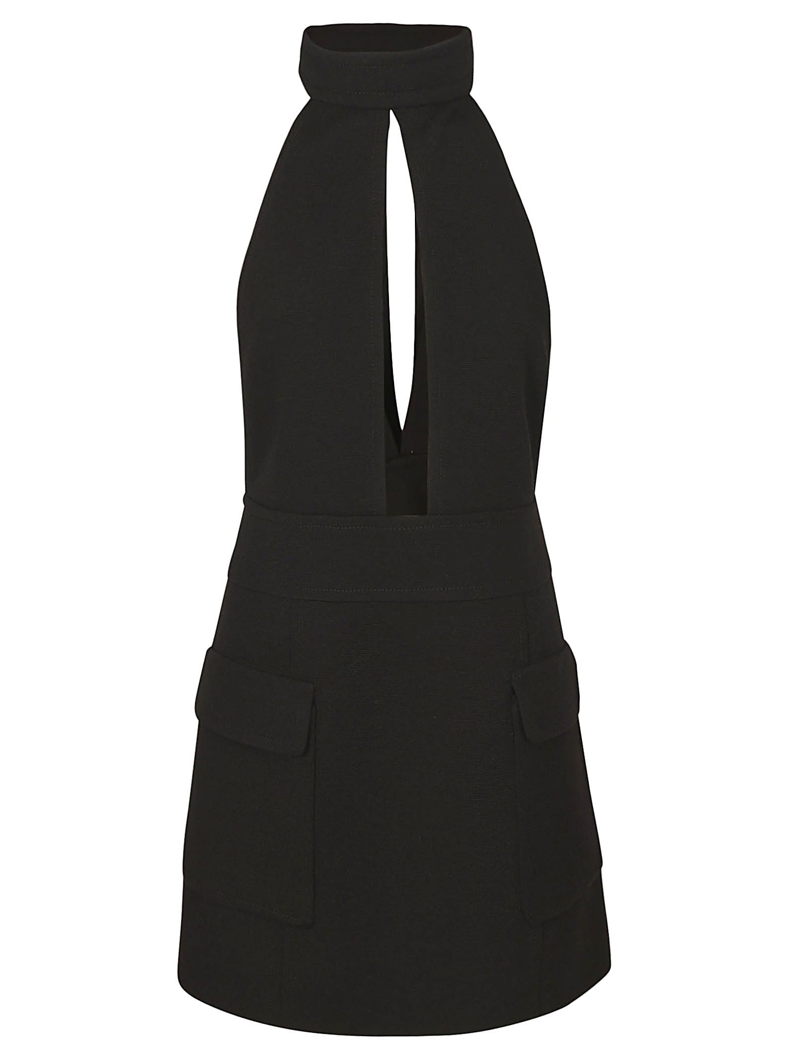 Saint Laurent Cut-out Detail Short Dress
