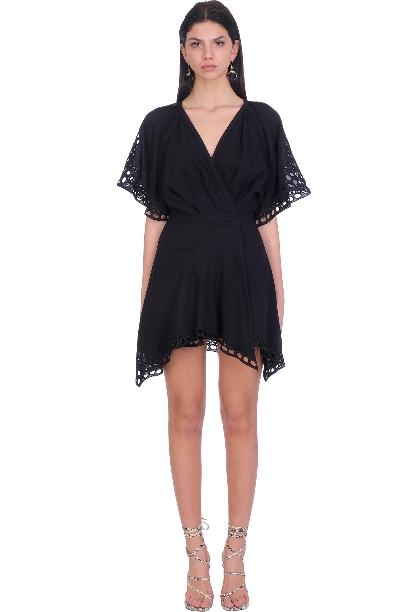 Buy IRO Devo Dress In Black Cotton online, shop IRO with free shipping