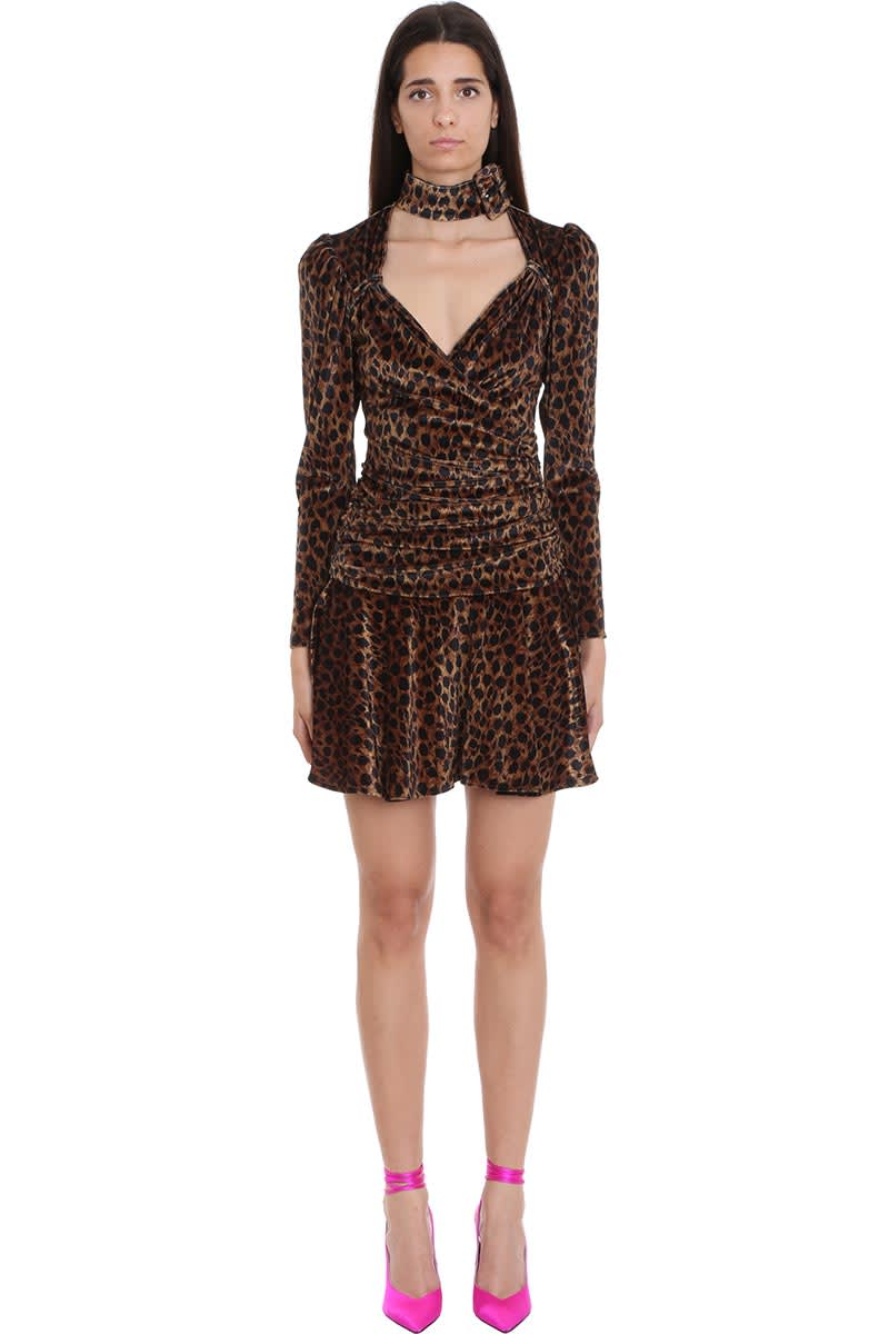 Buy The Attico Dress In Animalier Velvet online, shop The Attico with free shipping