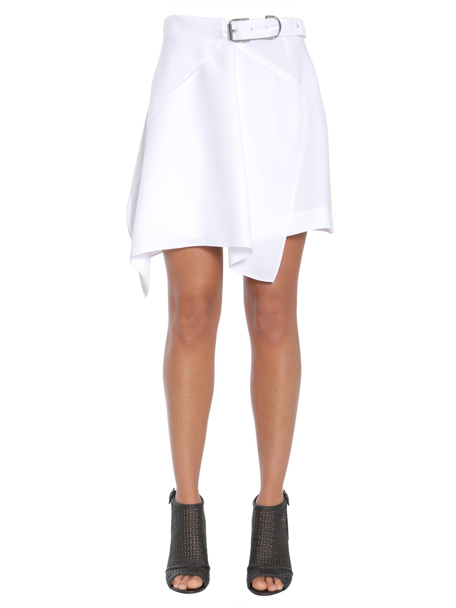 Asymmetric Wrap Effect Skirt