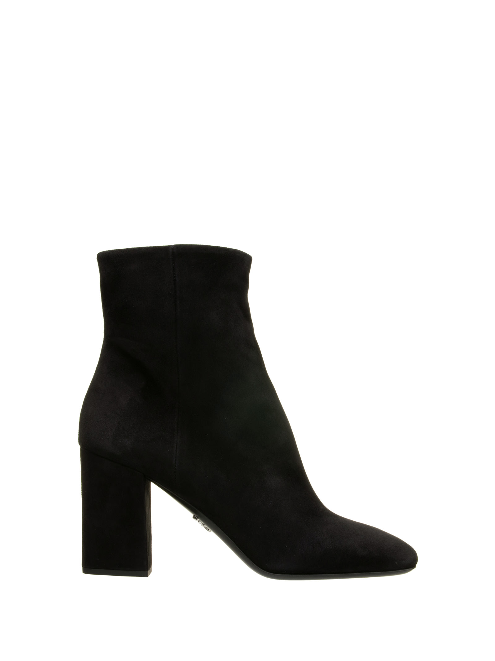 Prada Prada Zip Leather Ankle Boot