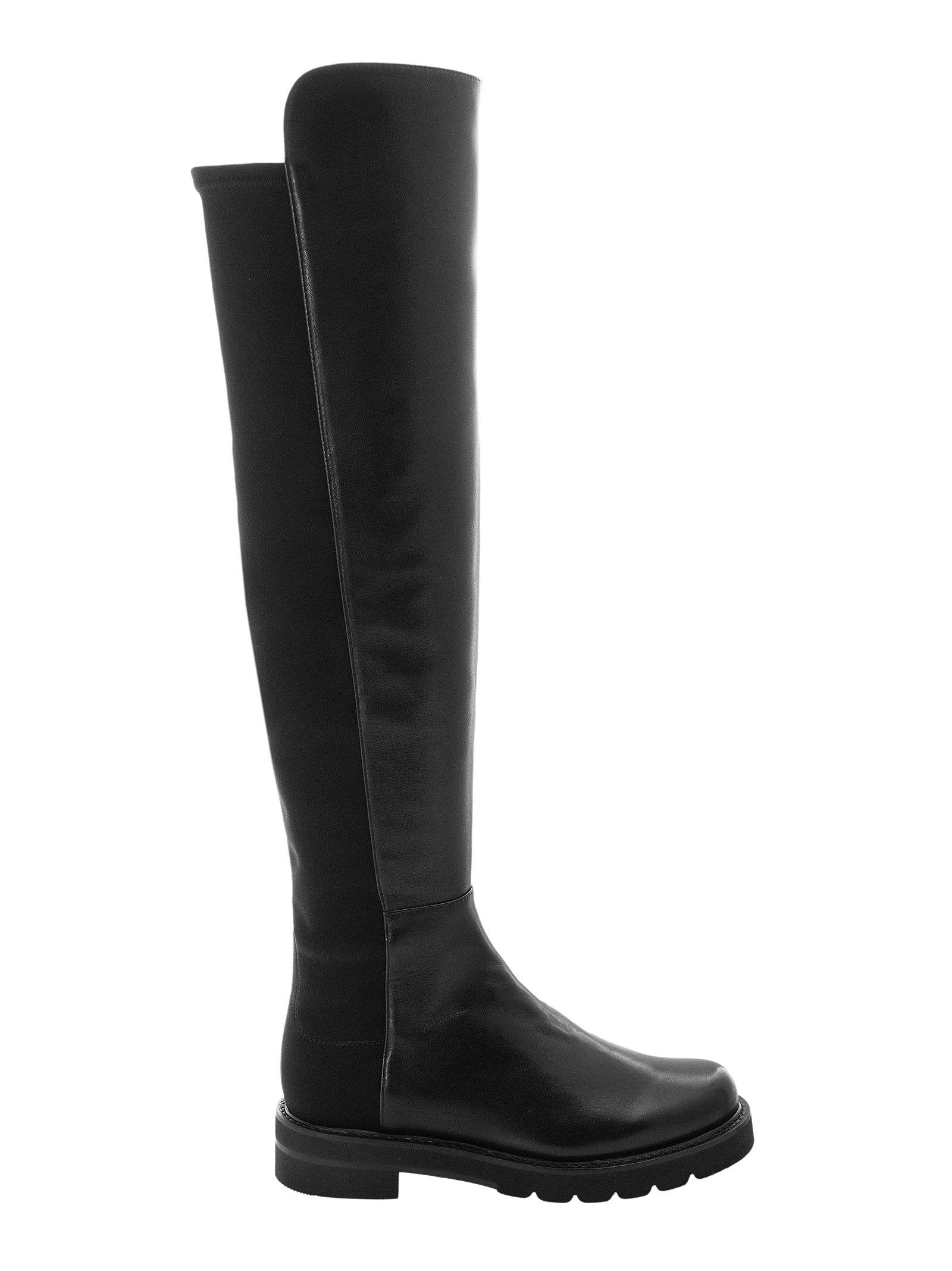 Buy Stuart Weitzman 5050 Lift - Leather Boots With Elasticated Back online, shop Stuart Weitzman shoes with free shipping