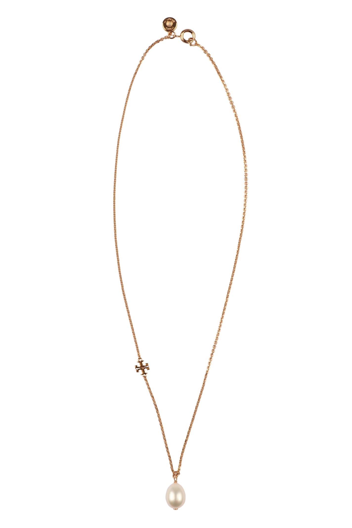 Tory Burch Pearl Pendant Short Necklace