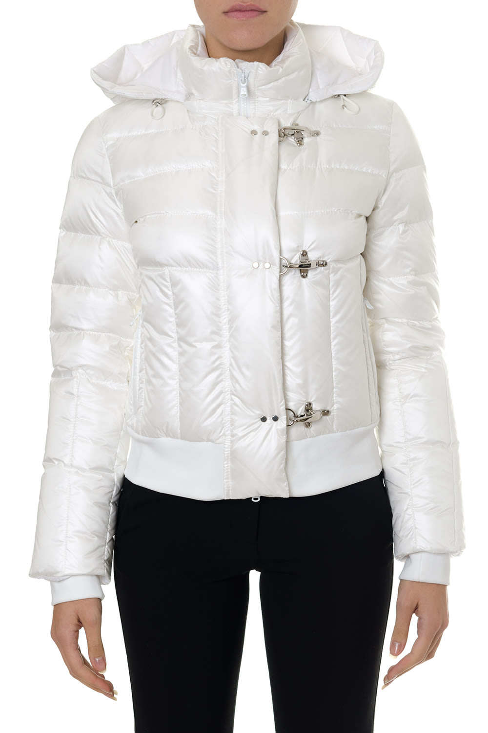 Fay White Jacket In Polyamide