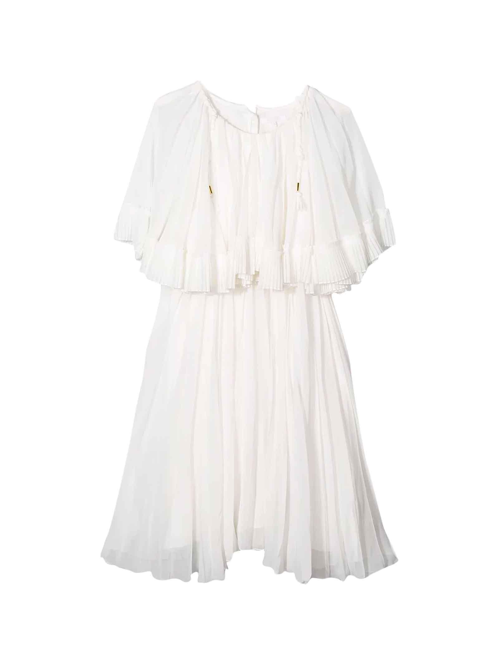 Buy Chloé White Dress Chloé Kids online, shop Chloé with free shipping