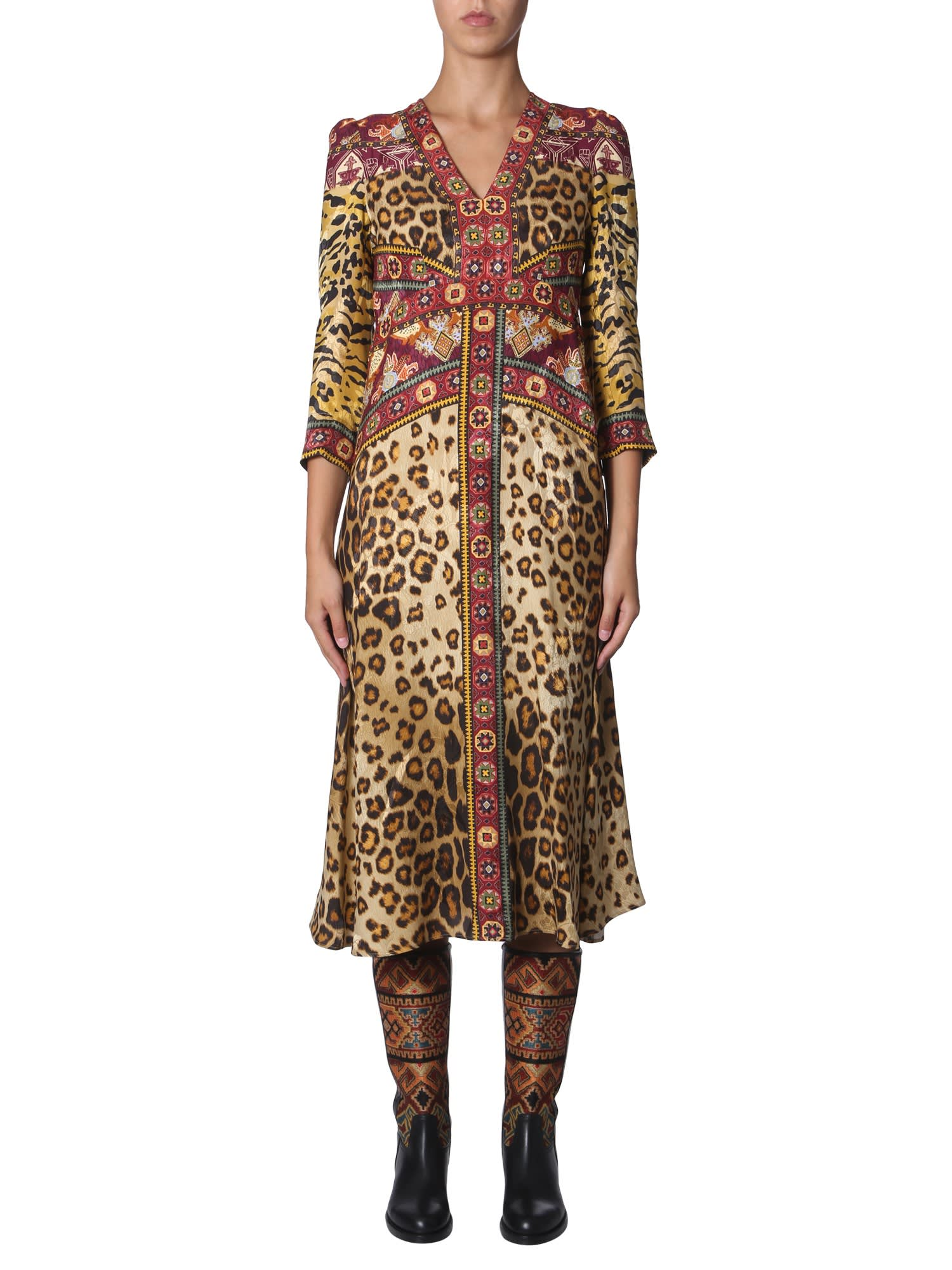 Buy Etro Animal Print Dress online, shop Etro with free shipping
