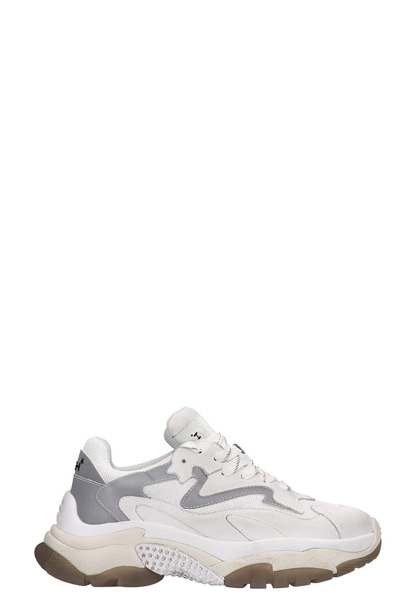 Ash Atomic 01 Sneakers In White Tech/synthetic