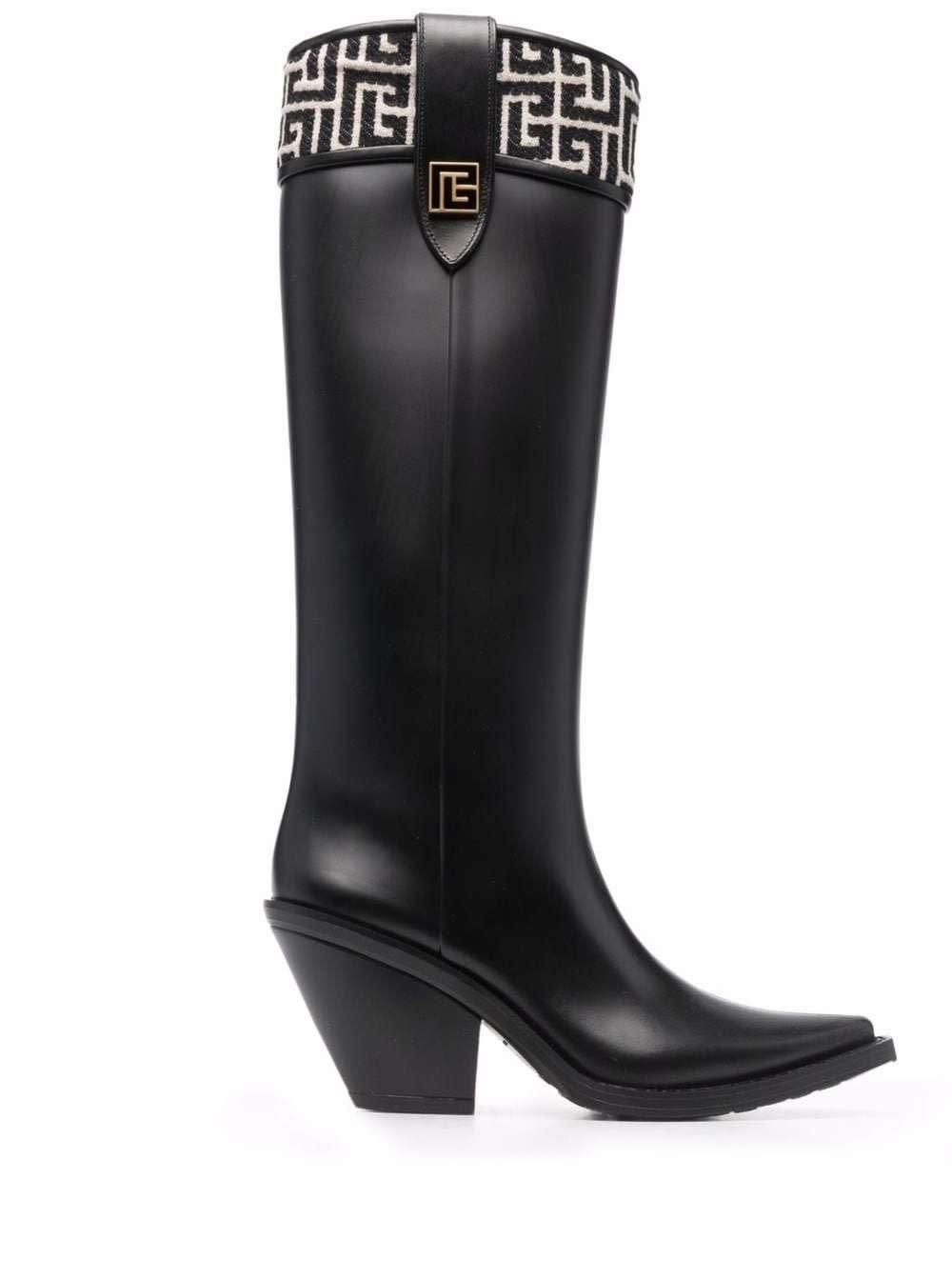 Balmain Black Rubber Tess Boots