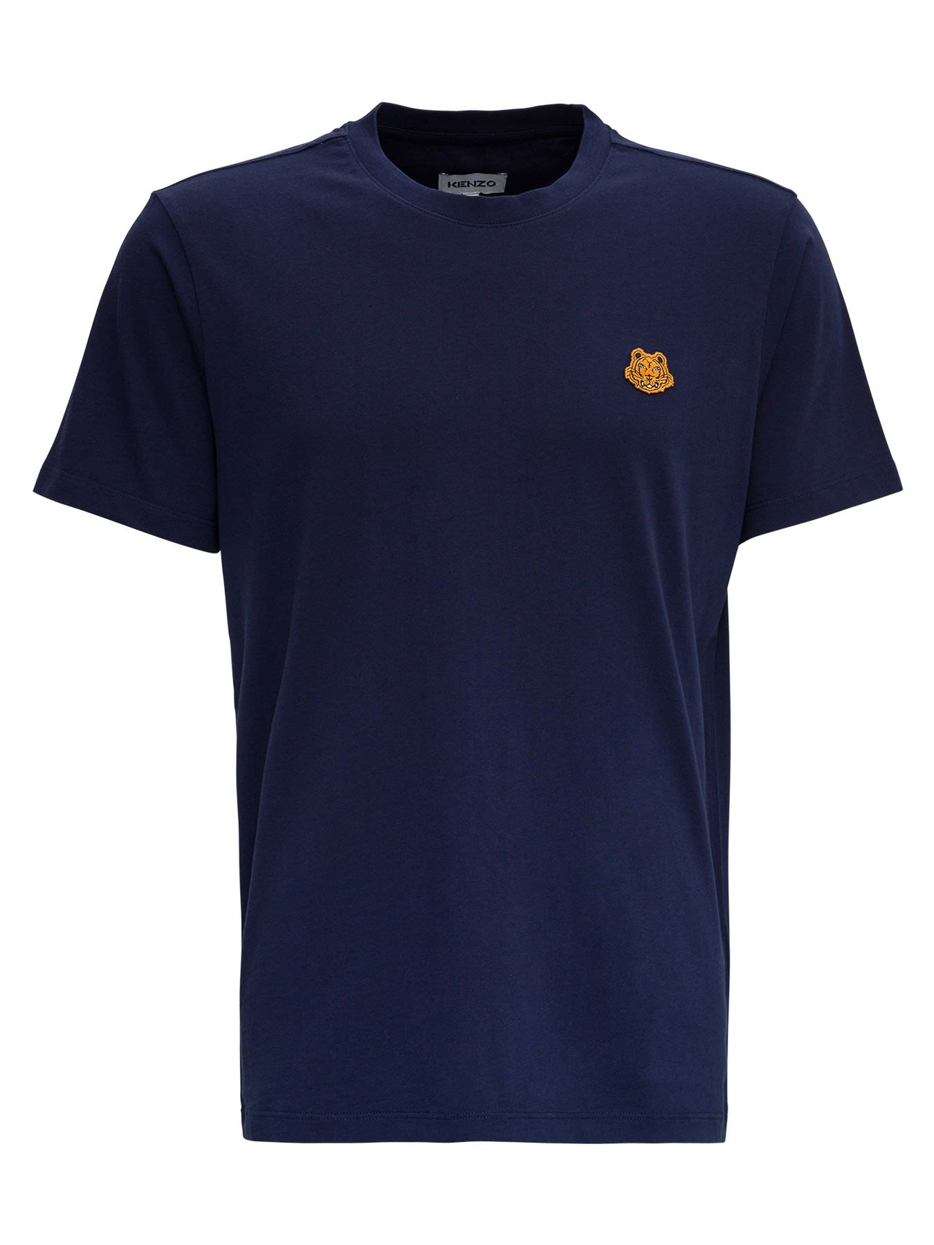 Kenzo COTTON T-SHIRT WITH TIGER PATCH LOGO