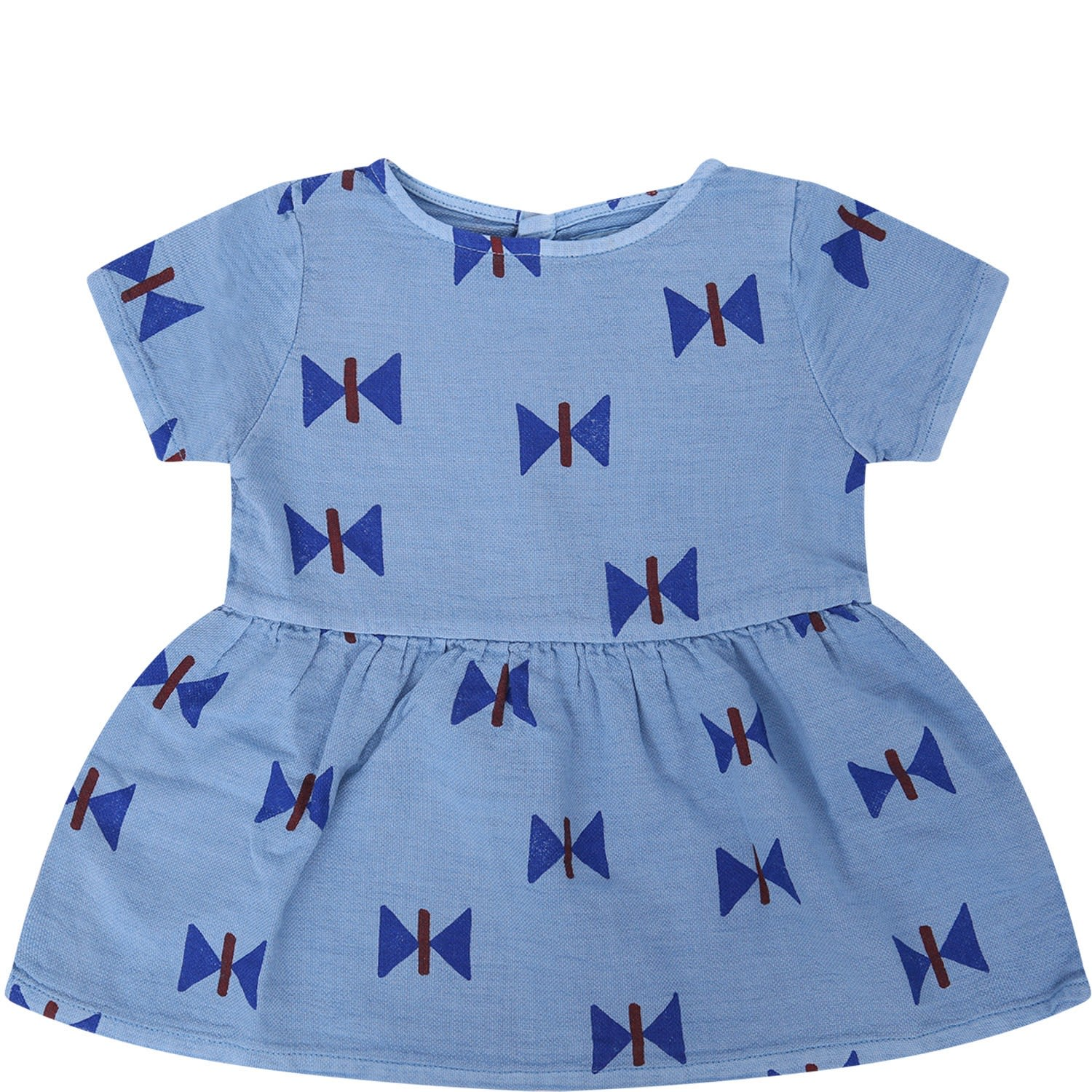 Bobo Choses Sky Blue Girl Dress With Styles Butterflies