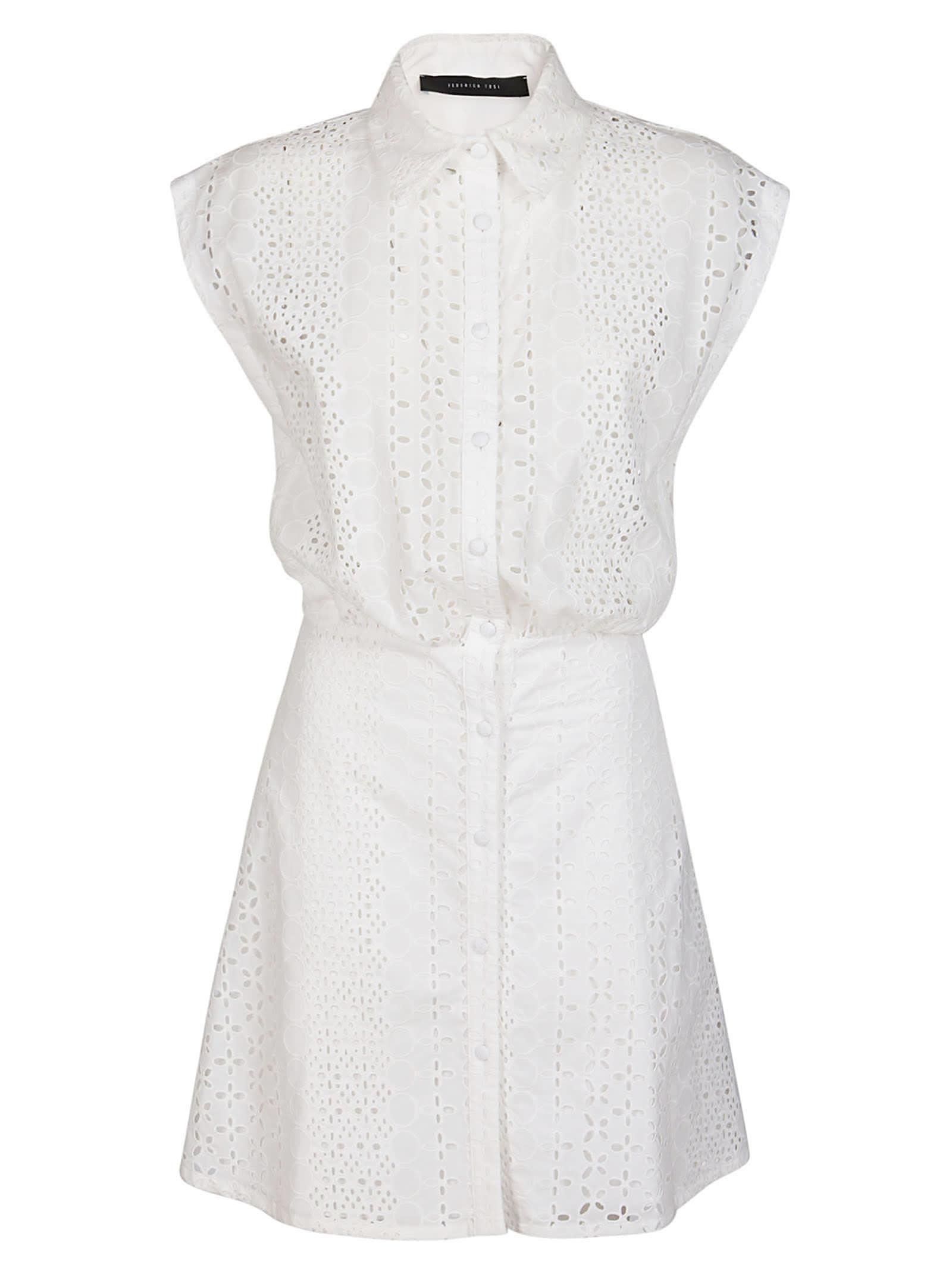 Federica Tosi WHITE COTTON DRESS