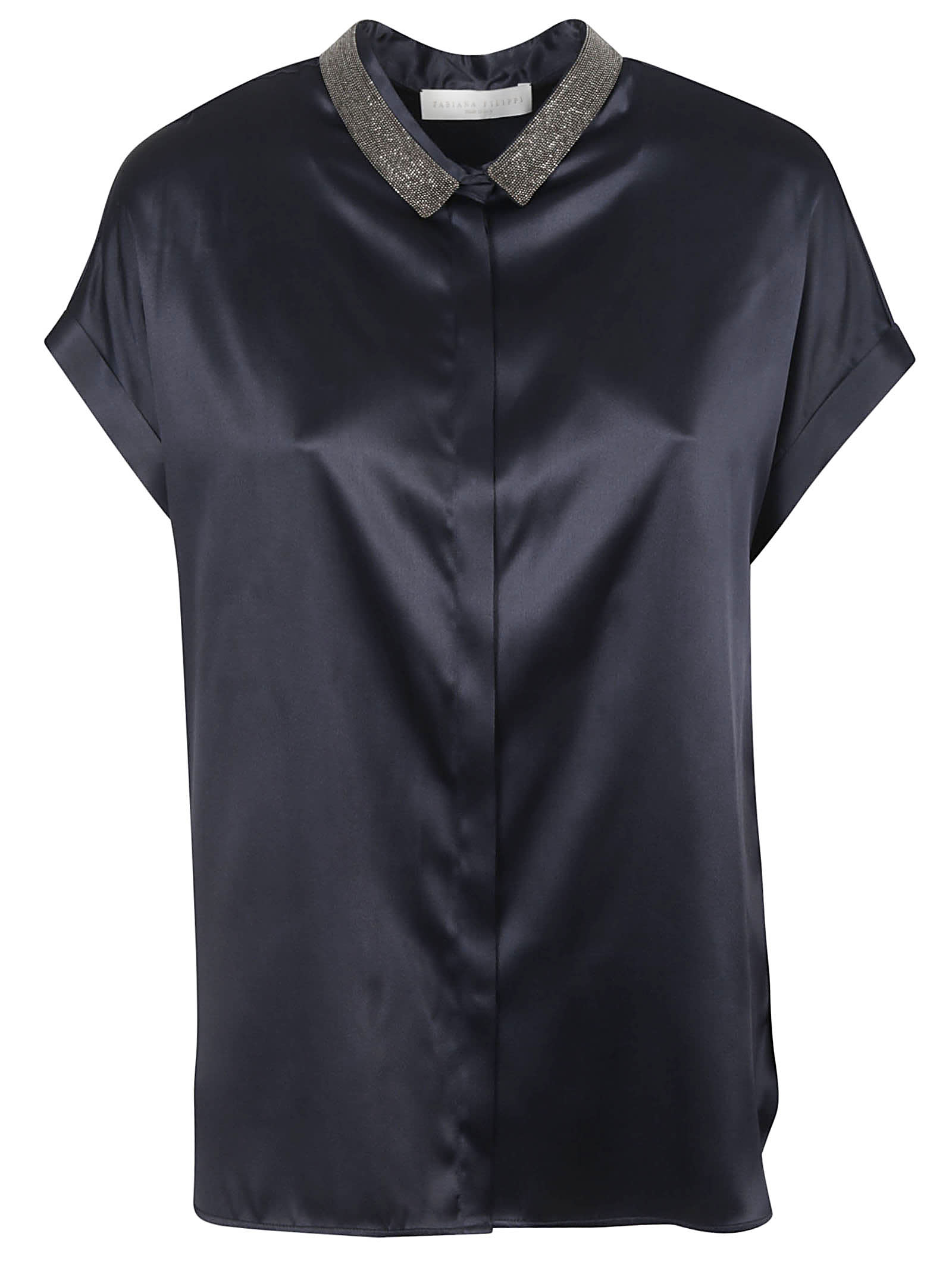 Fabiana Filippi EMBELLISHED COLLAR SHIRT