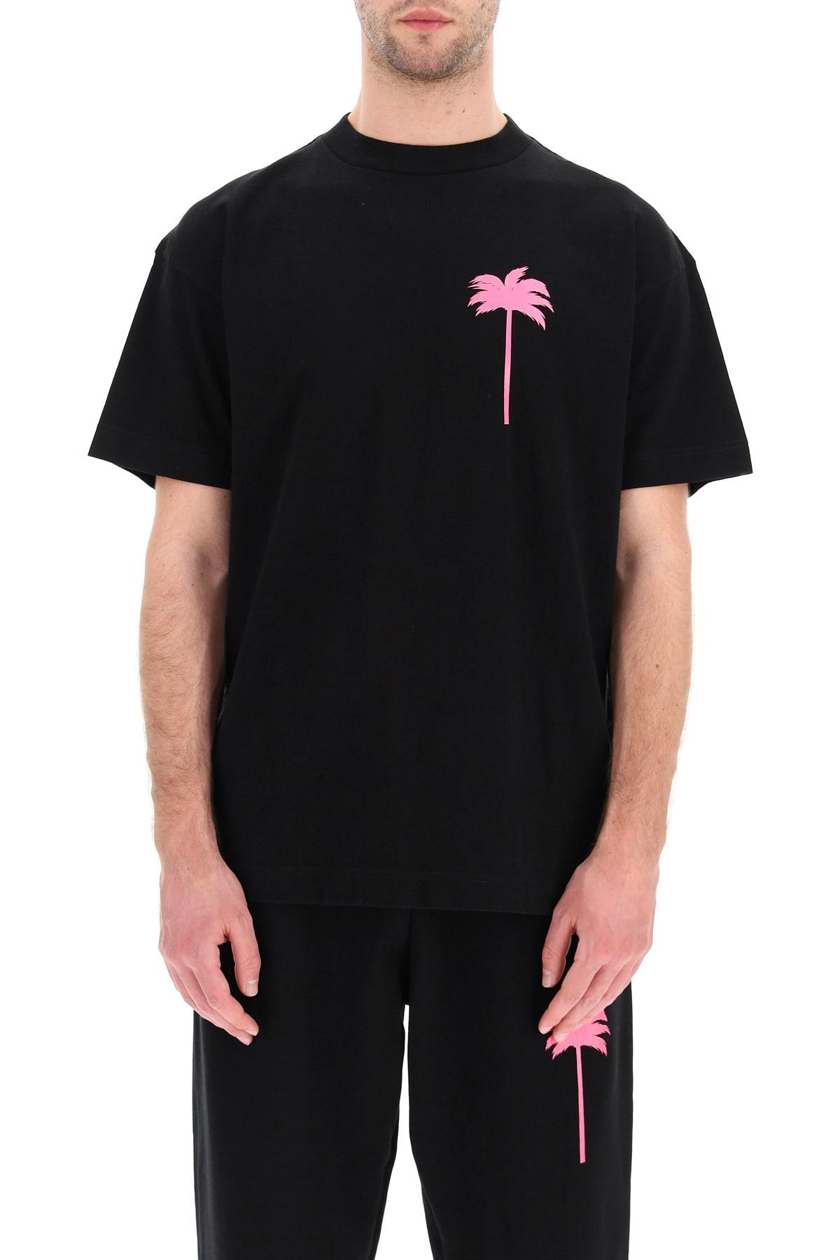 Palm Angels Cottons NEON PALM TREE PRINT T-SHIRT